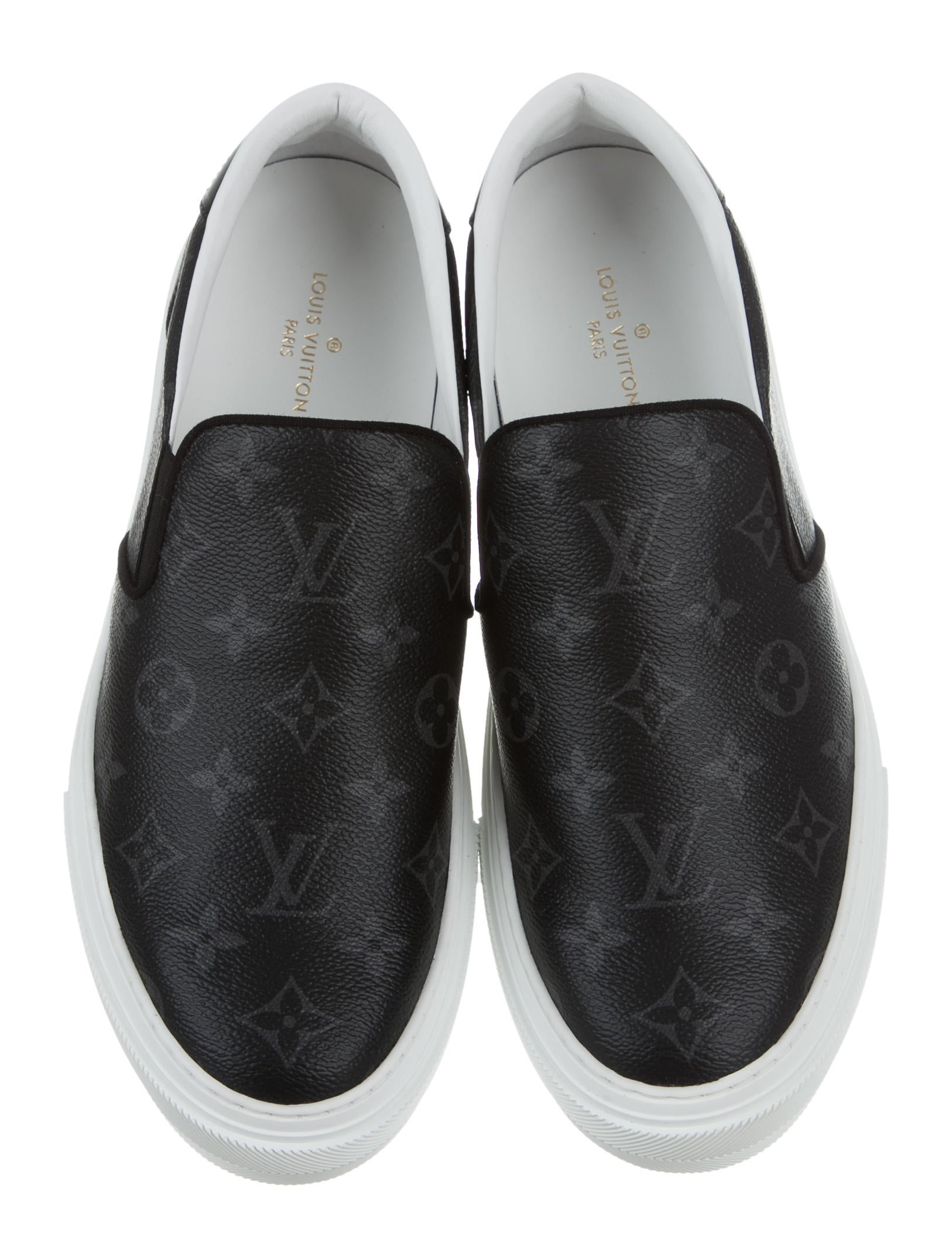 Louis Vuitton 2017 Trocadero Monogram Slip On Sneakers  : LOU1092223enlarged from www.therealreal.com size 1626 x 2145 jpeg 265kB