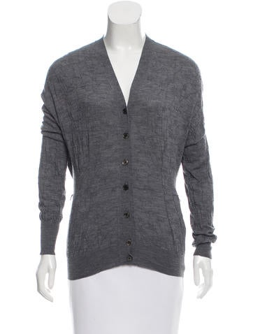 Louis Vuitton Wool Button-Up Cardigan None