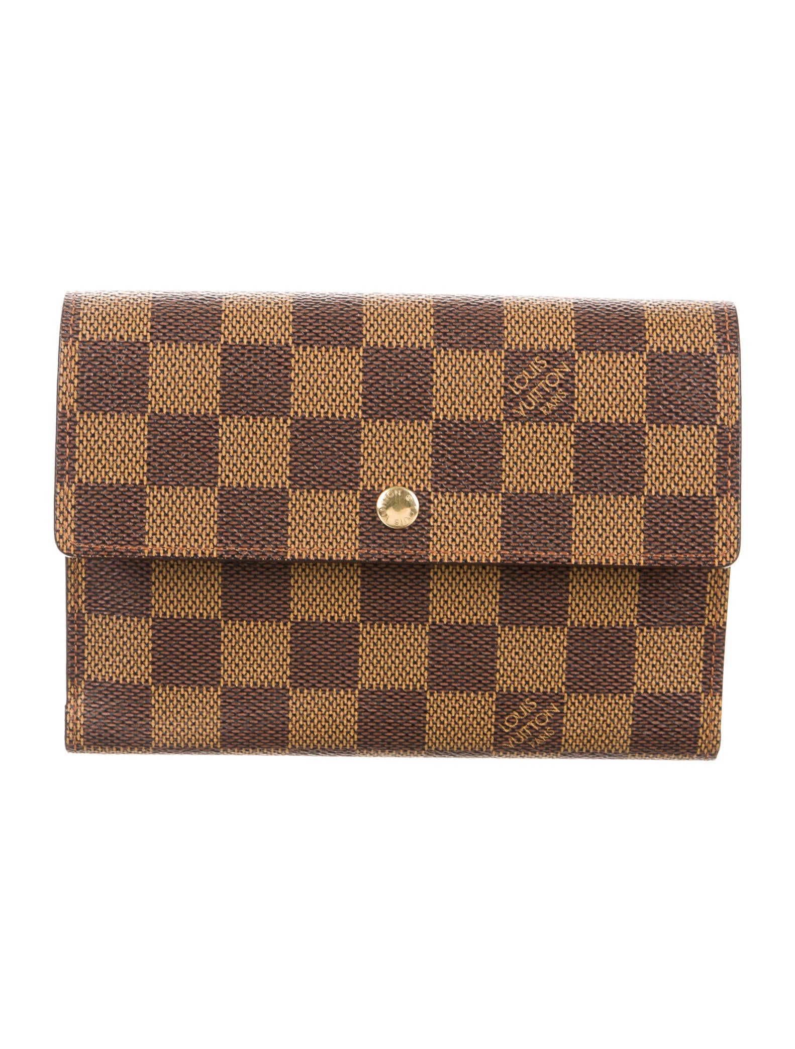 louis vuitton damier porte tresor etui chequier accessories lou109569 the realreal