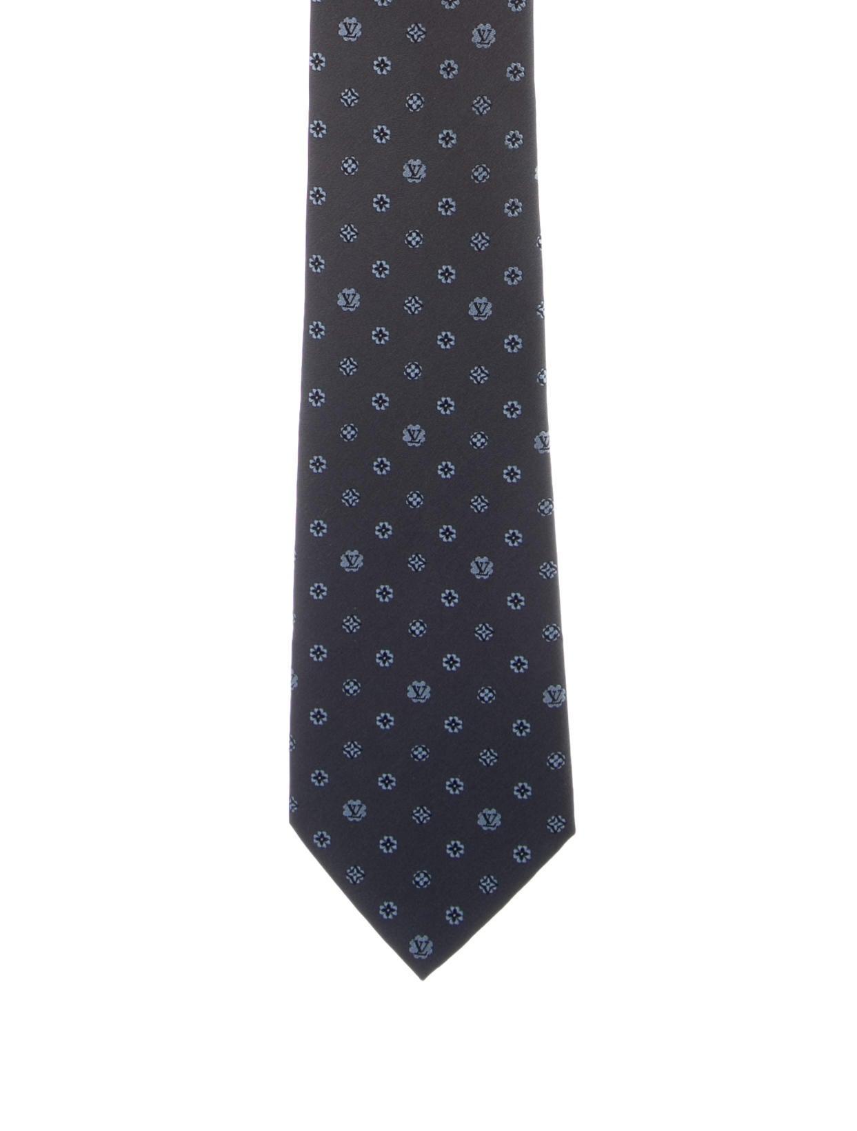 louis vuitton monogram silk tie w tags suiting