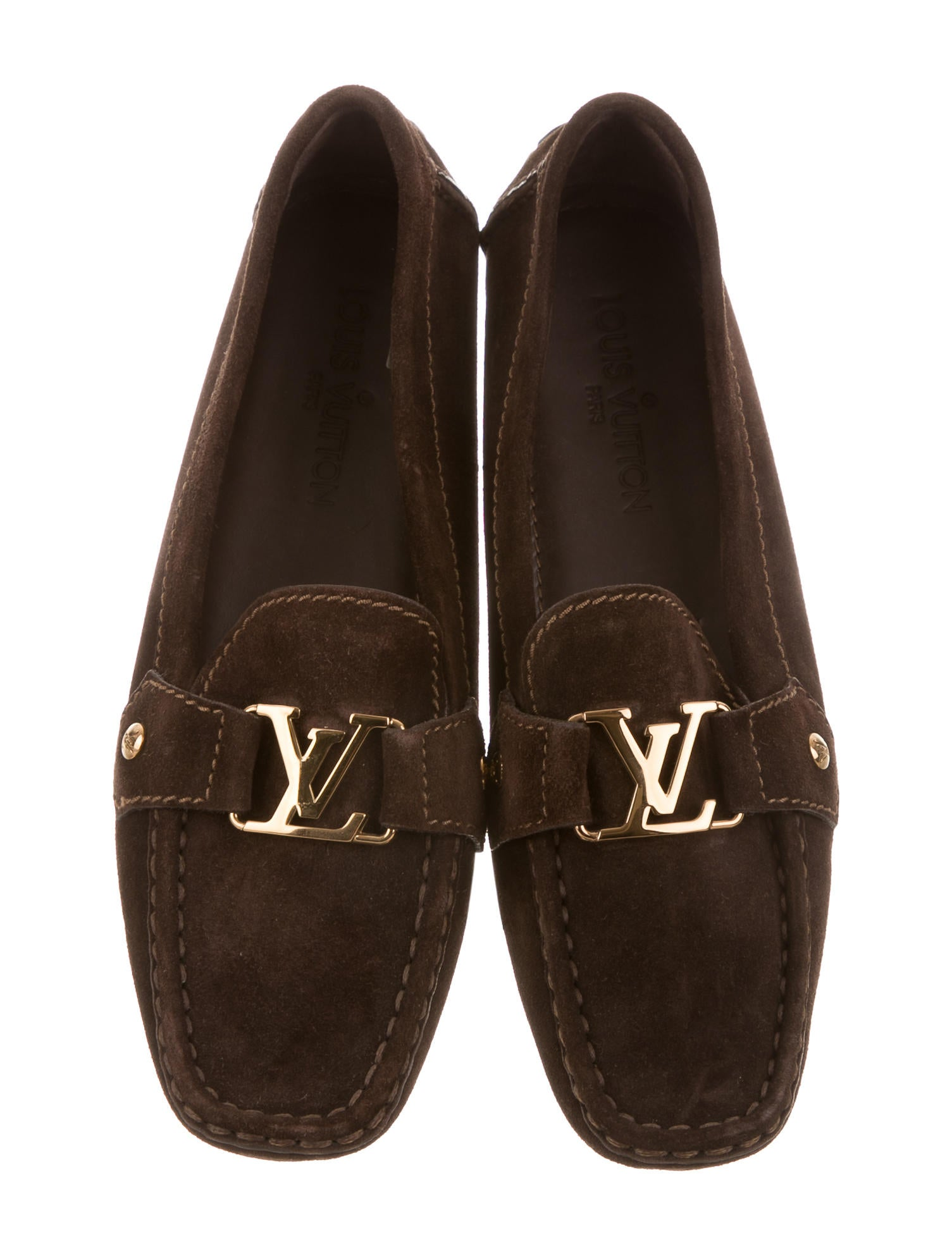 Louis Vuitton Suede Driving Loafers Shoes Lou110242 The Realreal