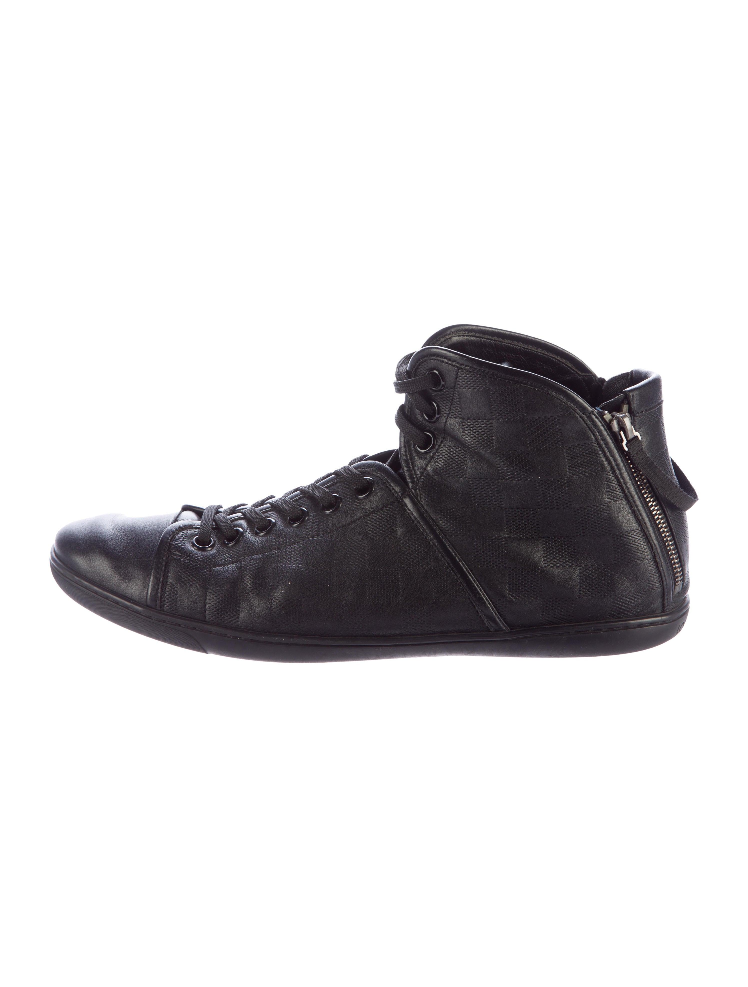 louis vuitton damier hightop sneakers mens shoes