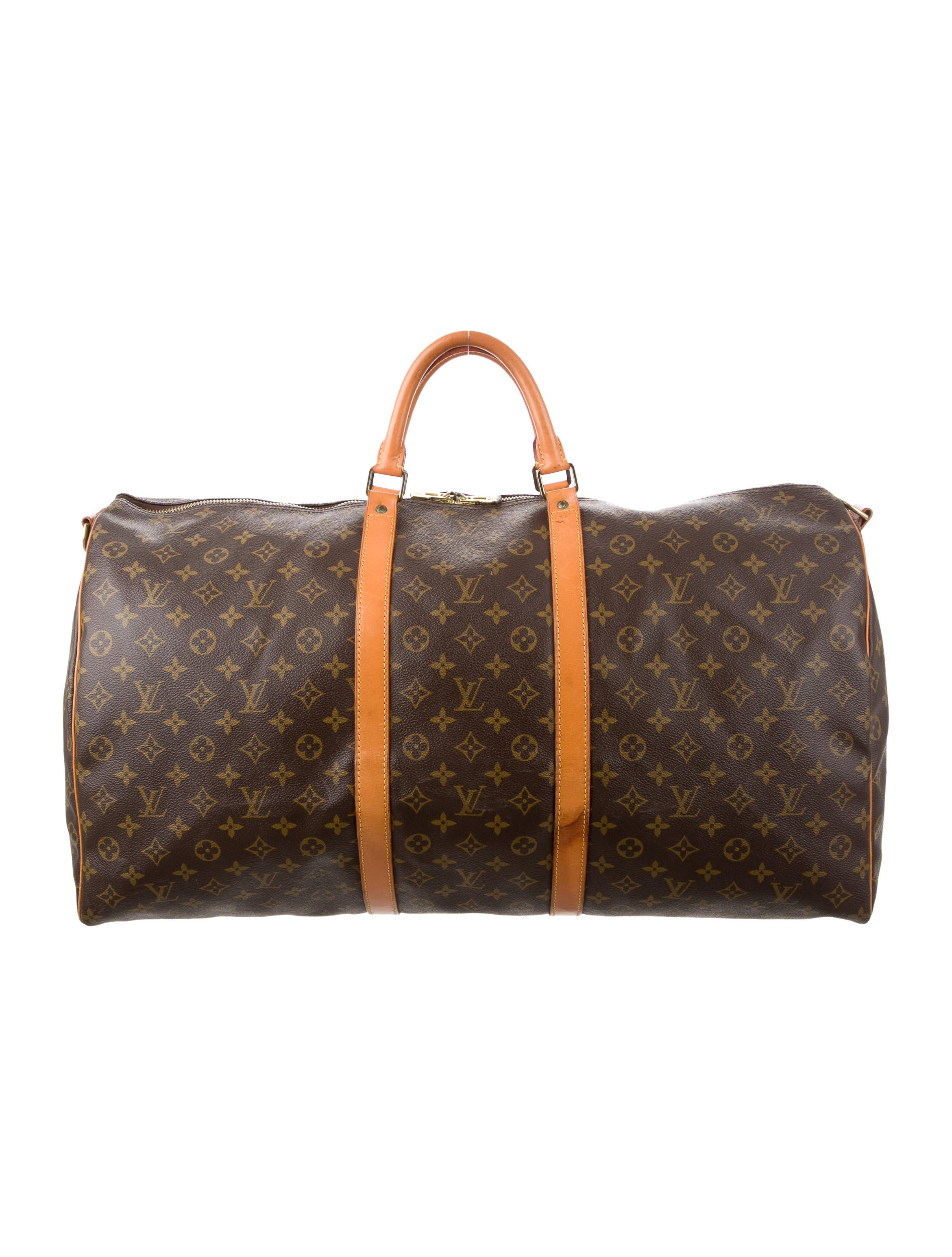 louis vuitton monogram keepall bandouli re 60 bags lou110465 the realreal. Black Bedroom Furniture Sets. Home Design Ideas
