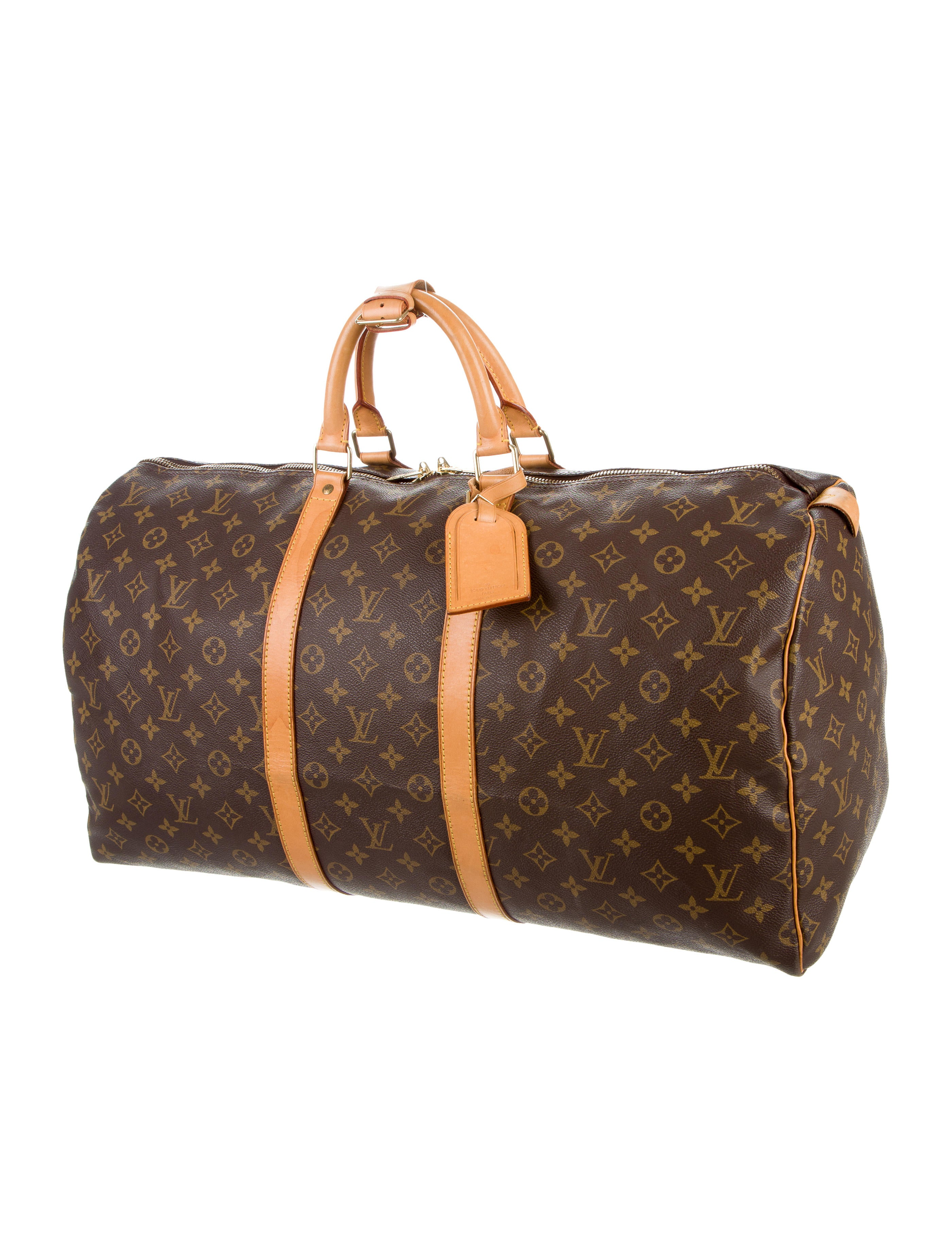 louis vuitton monogram keepall 55 bags lou110610 the realreal. Black Bedroom Furniture Sets. Home Design Ideas