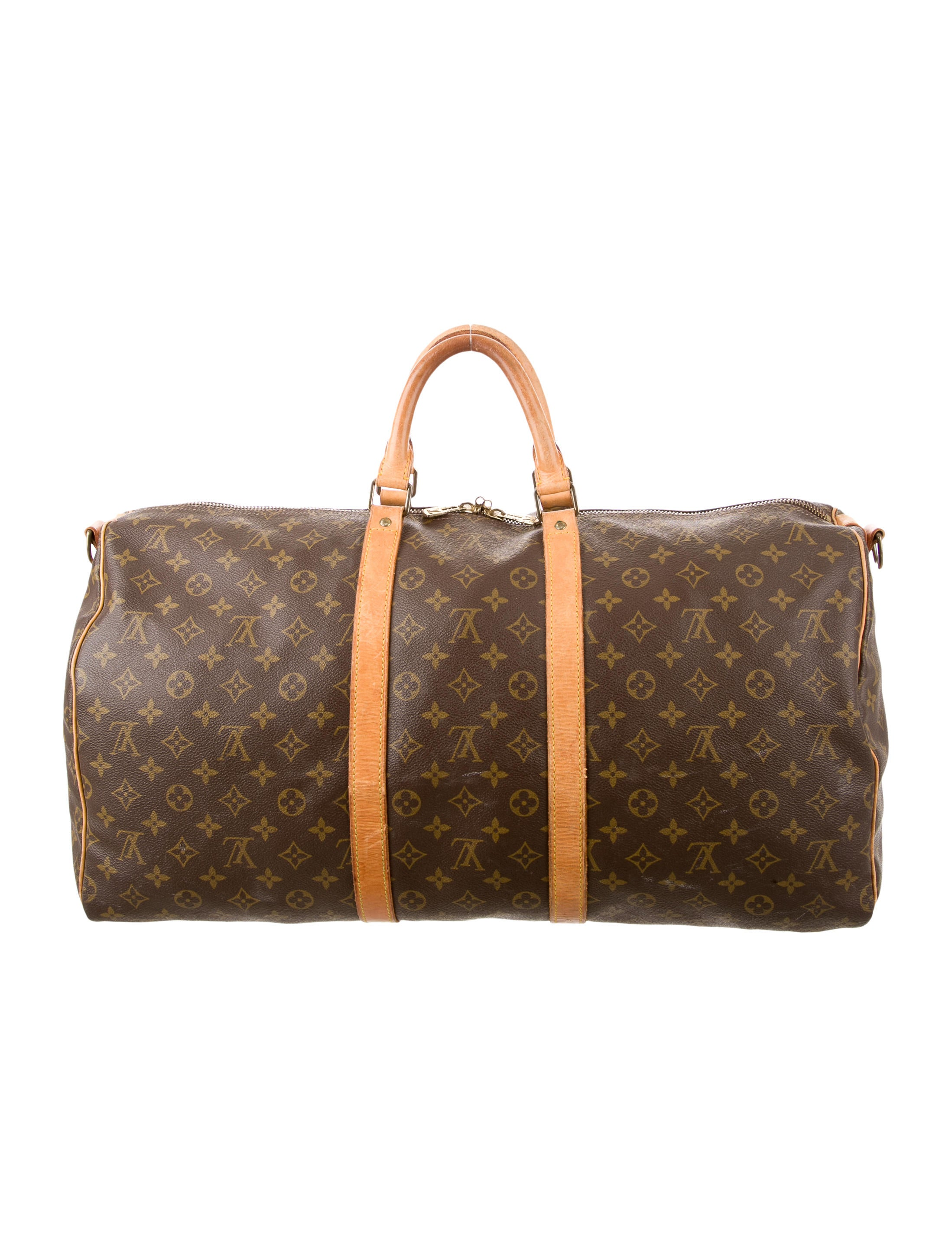 louis vuitton monogram keepall bandouli re 55 handbags lou110881 the realreal. Black Bedroom Furniture Sets. Home Design Ideas