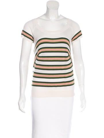 Louis Vuitton Cashmere Striped Top None