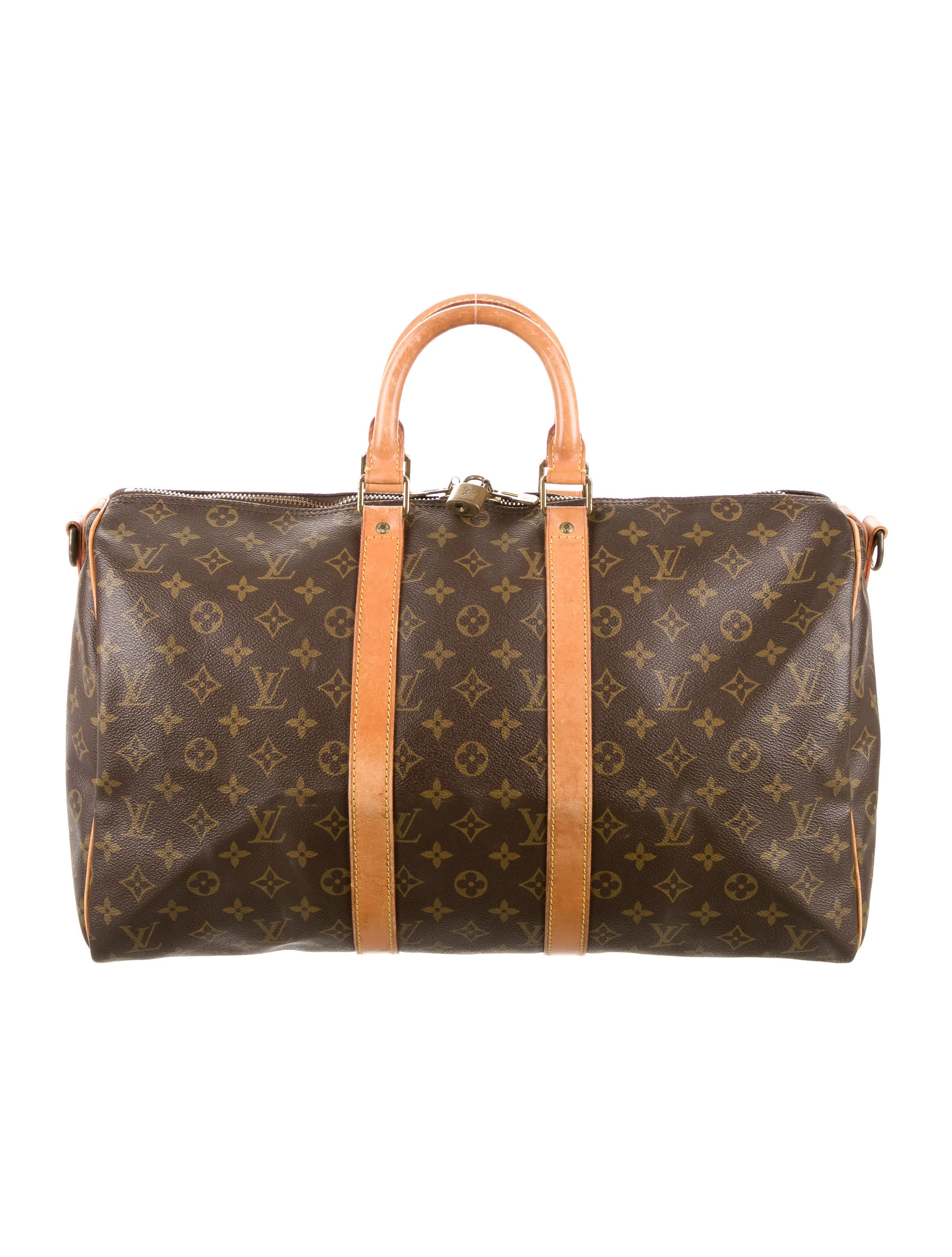 louis vuitton monogram keepall bandouli re 45 handbags lou111046 the realreal. Black Bedroom Furniture Sets. Home Design Ideas