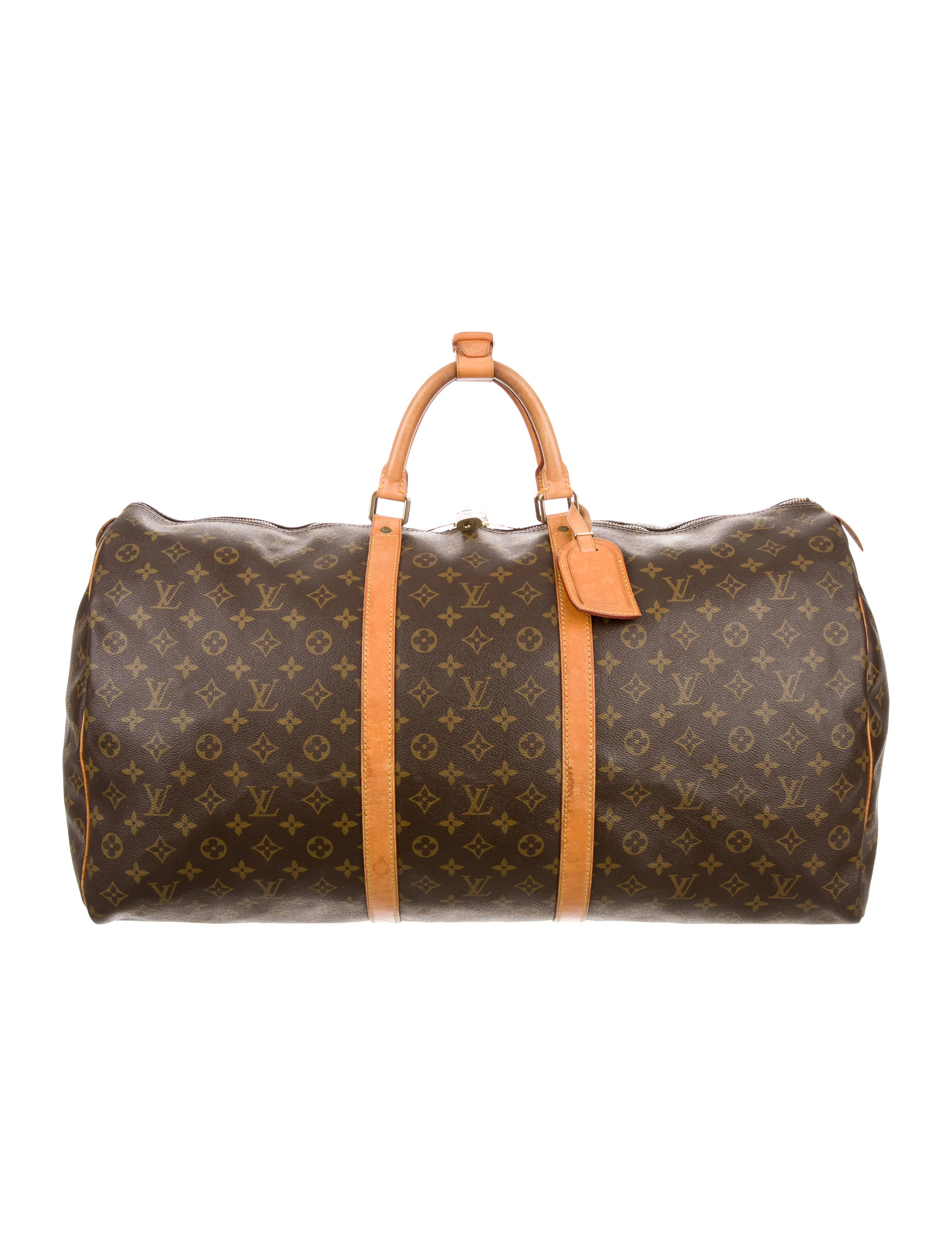 louis vuitton monogram keepall 60 handbags lou111051 the realreal. Black Bedroom Furniture Sets. Home Design Ideas