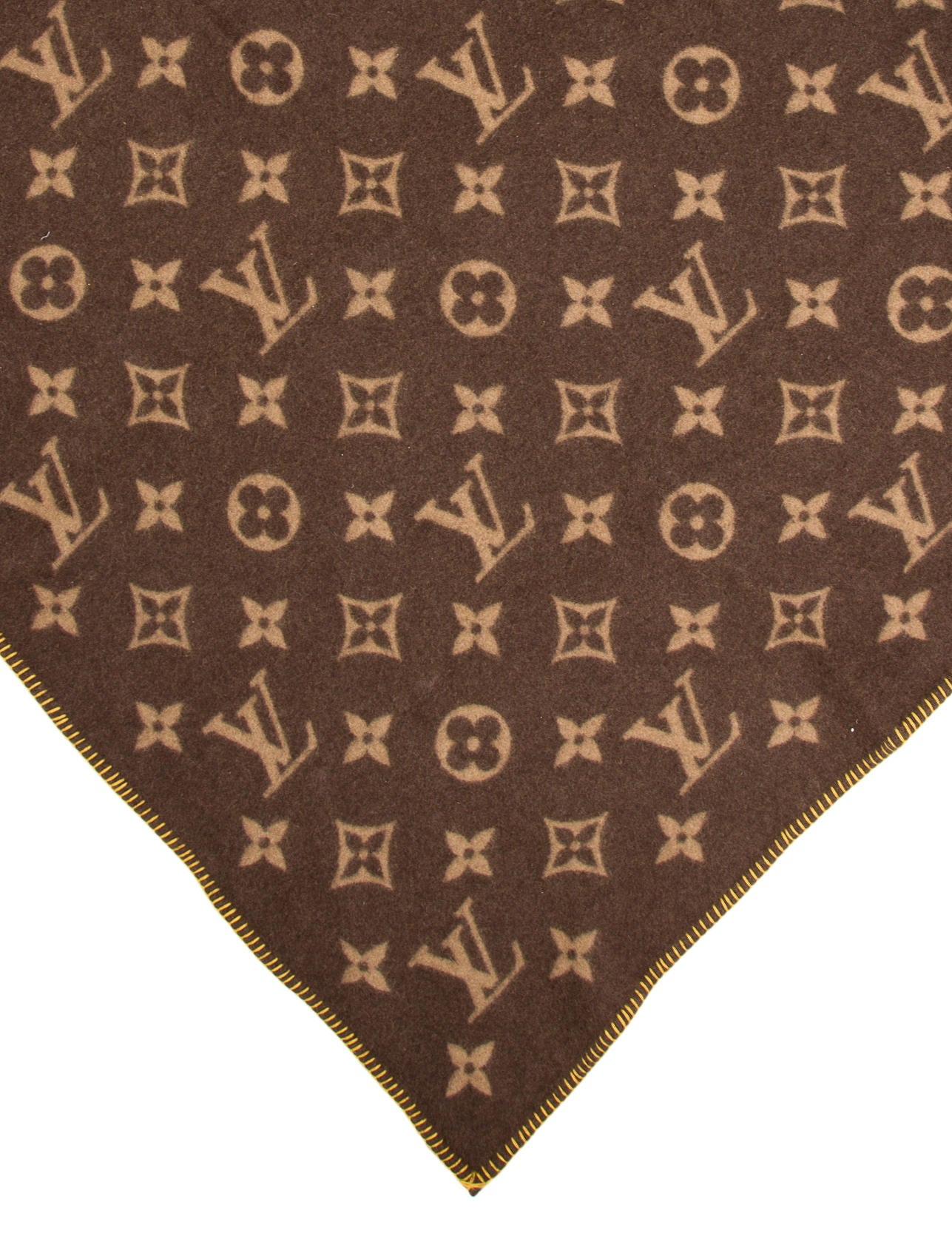 Louis Vuitton Monogram Throw Blanket Pillows And Throws  : LOU1115563enlarged from www.therealreal.com size 1287 x 1698 jpeg 309kB