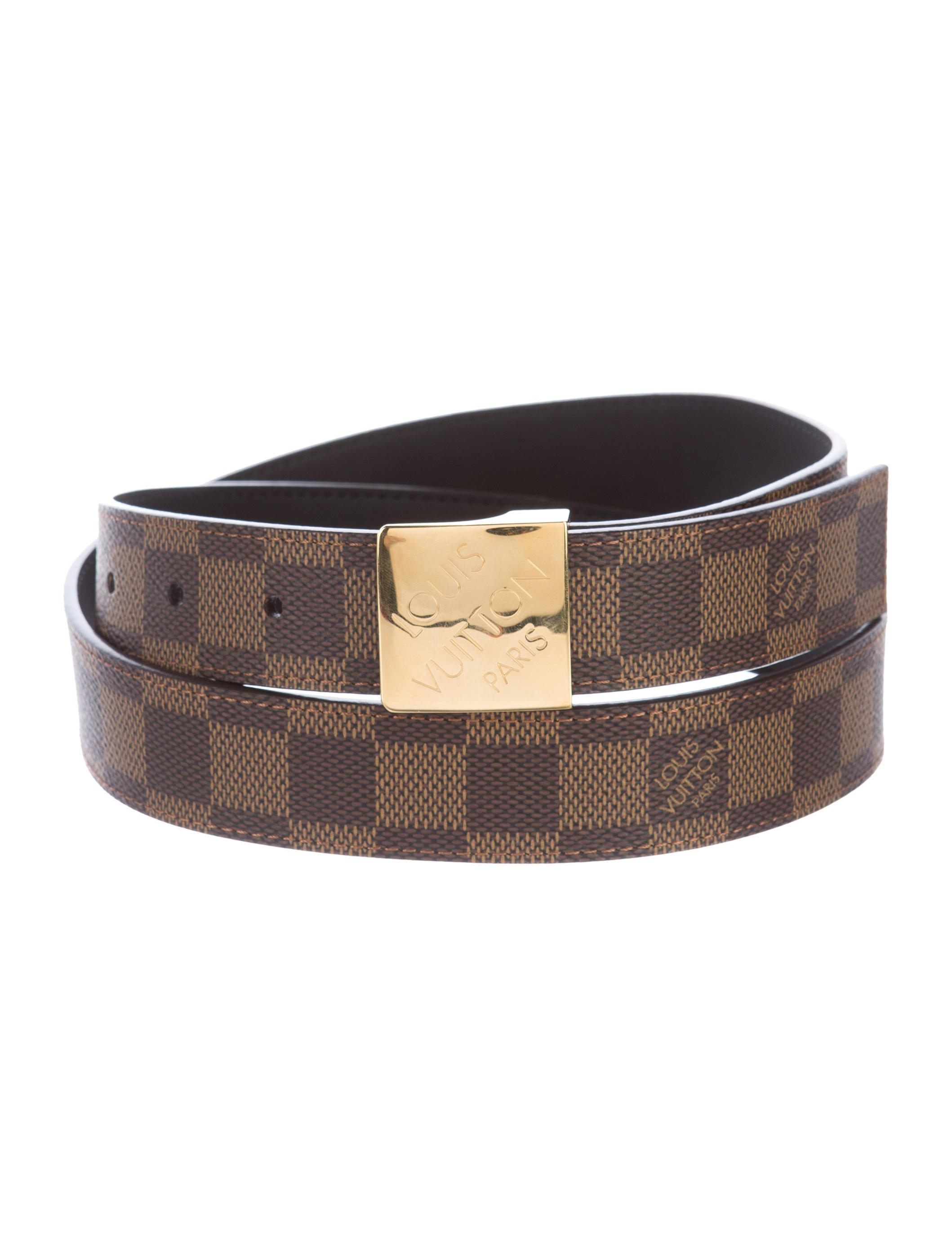 Louis Vuitton Damier Ebene Belt - Accessories - LOU111870 ...