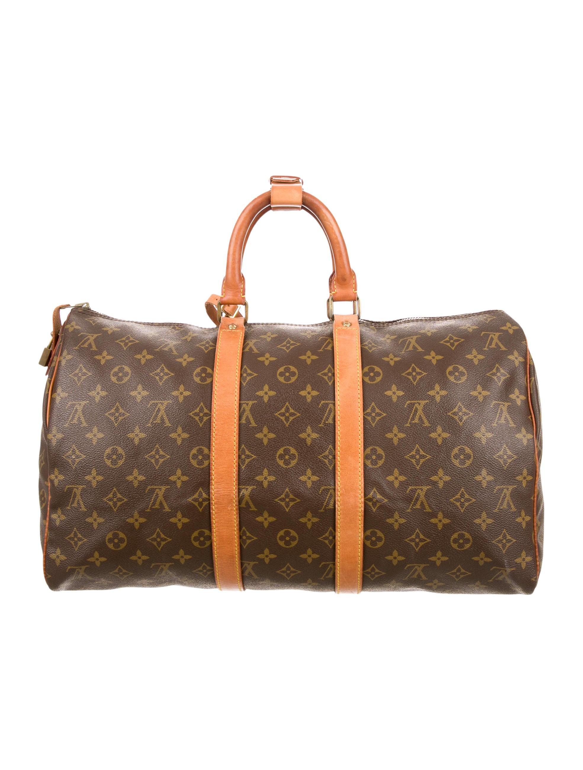 louis vuitton monogram speedy 45 handbags lou111920 the realreal. Black Bedroom Furniture Sets. Home Design Ideas