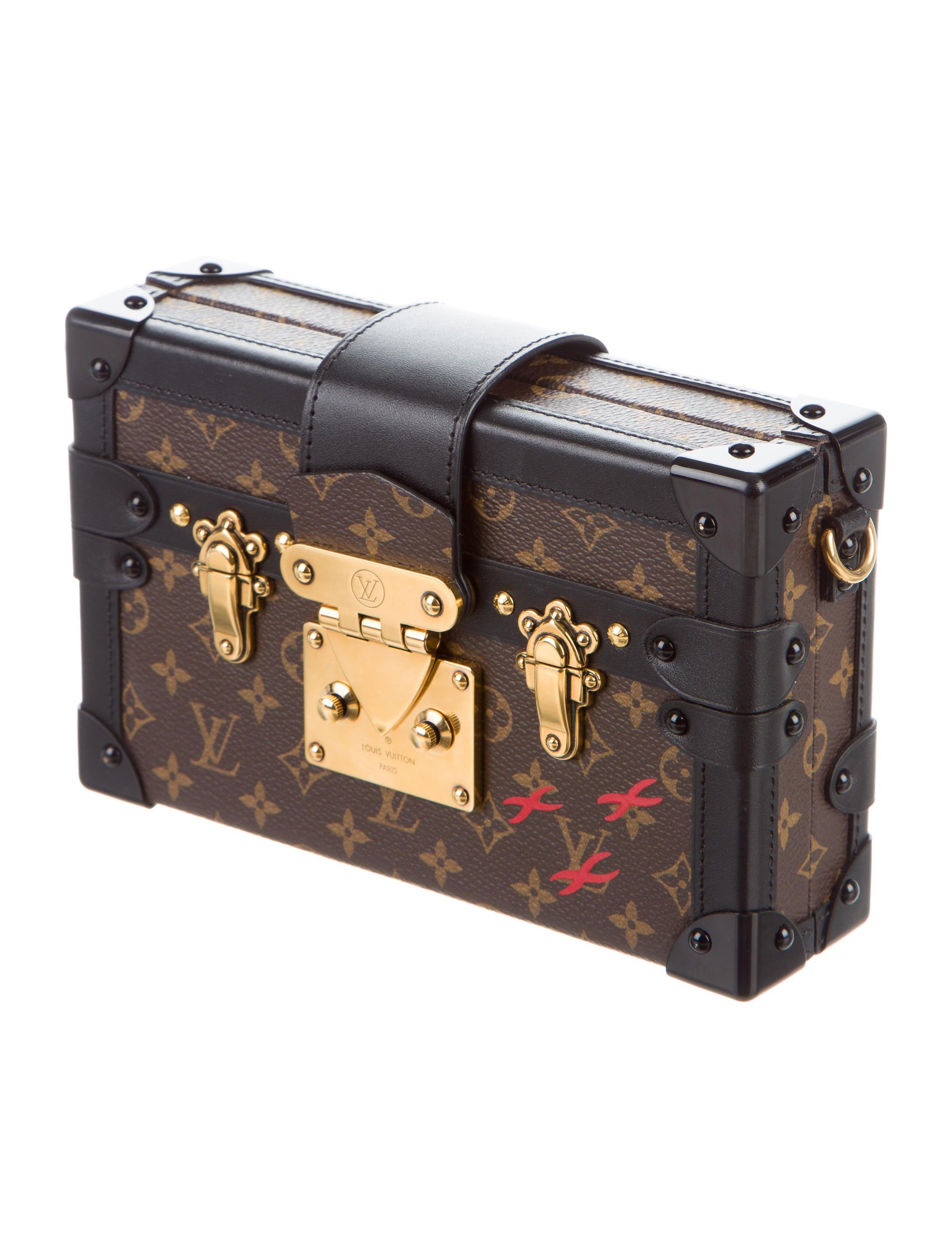 louis vuitton monogram petite malle handbags lou111985 the realreal. Black Bedroom Furniture Sets. Home Design Ideas
