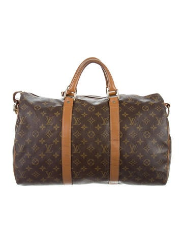louis vuitton vintage french company monogram weekender handbags lou112150 the realreal. Black Bedroom Furniture Sets. Home Design Ideas