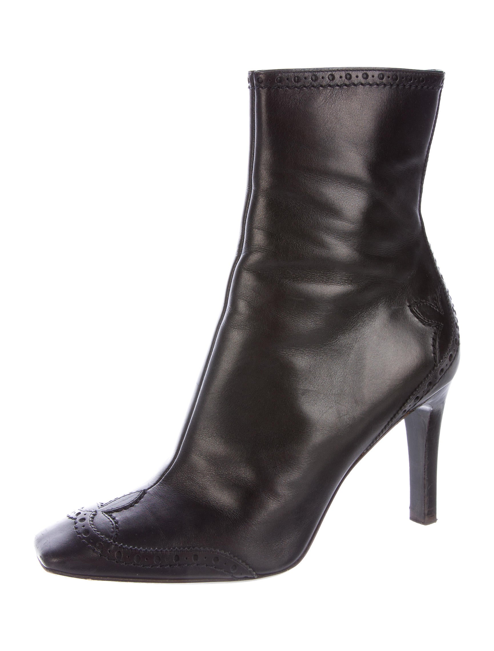 louis vuitton leather brogue ankle boots shoes