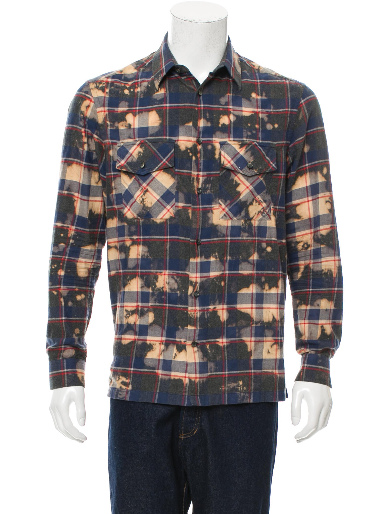 f2e57e5a267e Louis Vuitton Flannel Button-Up Shirt - Clothing - LOU112904