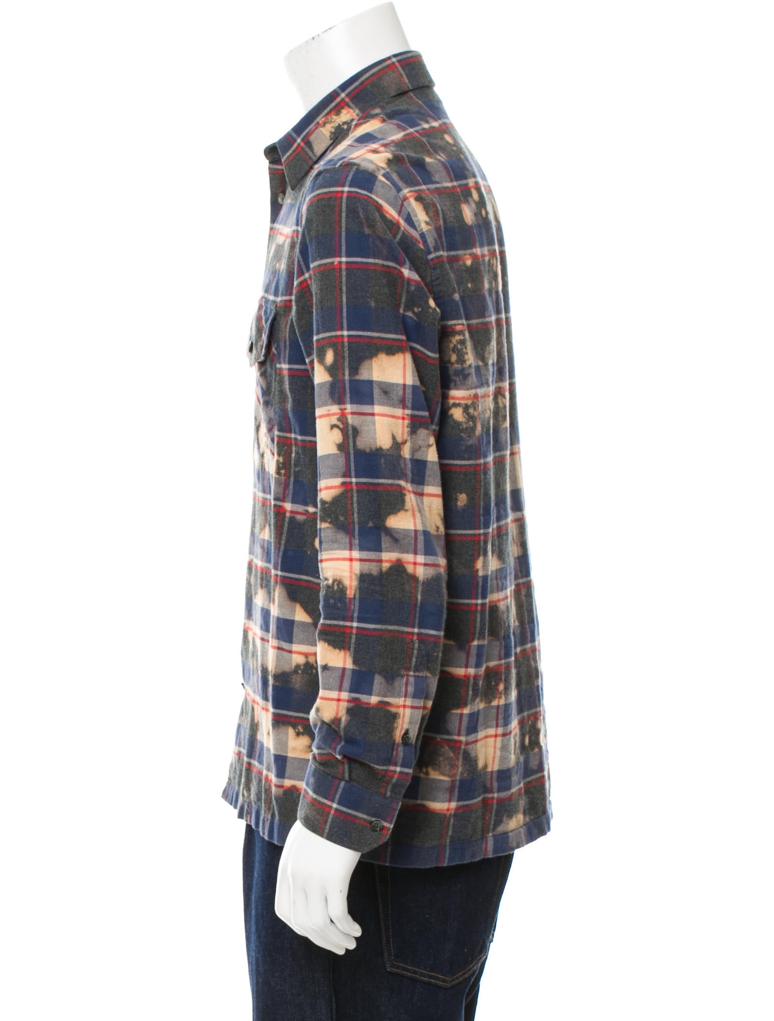 Louis vuitton flannel button up shirt clothing for Button up flannel shirts