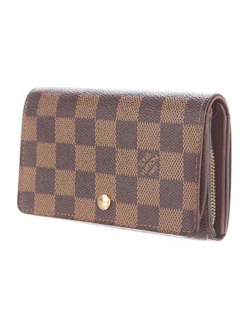 Louis vuitton porte monnaie tr sor wallet accessories for Porte monnaie wallet