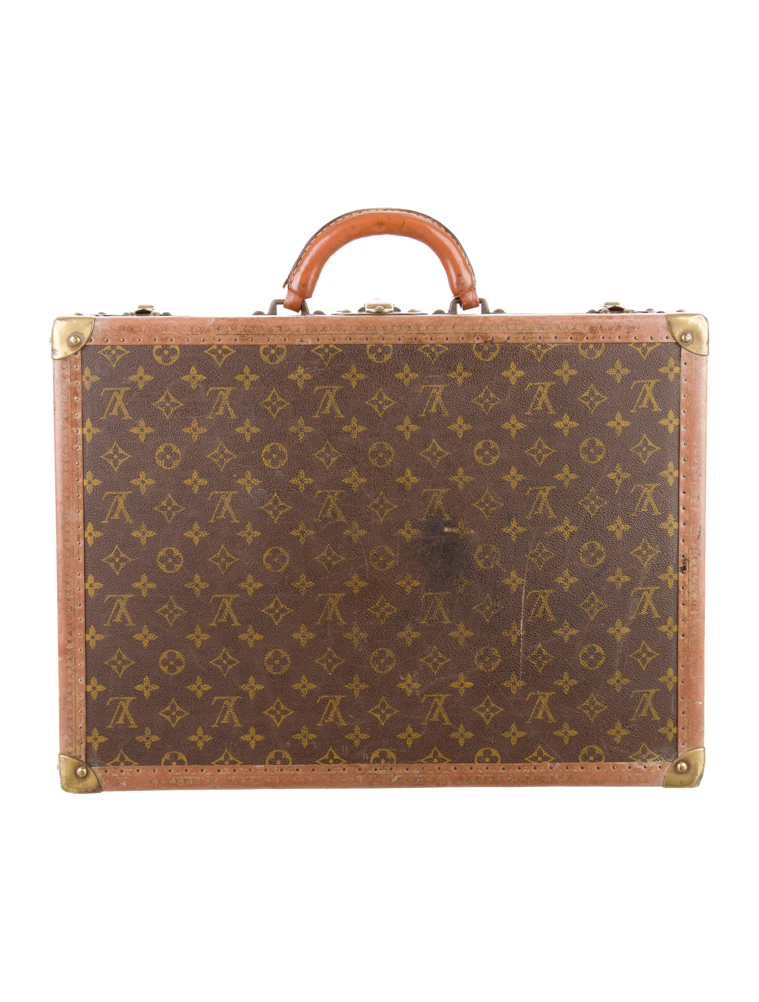 louis vuitton monogram alzer 60 small trunk handbags lou113218 the realreal. Black Bedroom Furniture Sets. Home Design Ideas