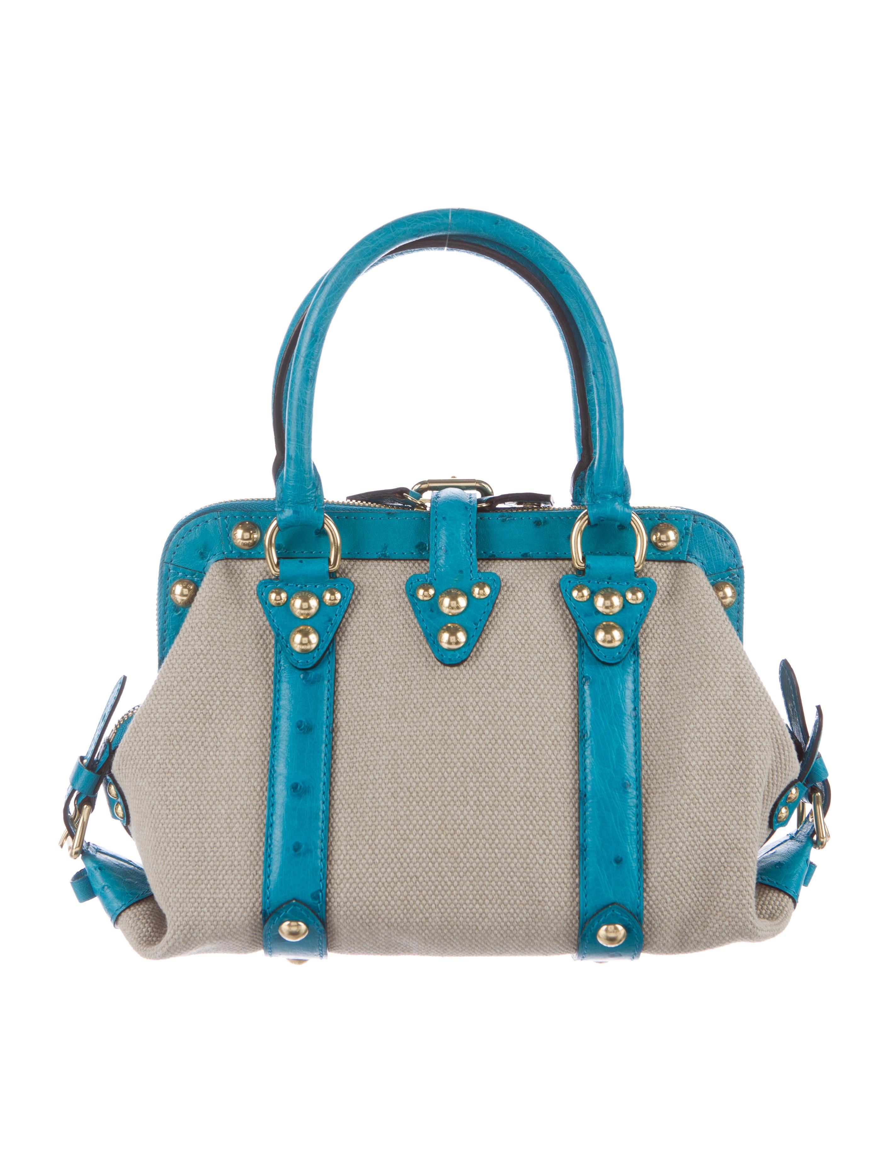 louis vuitton ostrich sac de nuit toile trianon mm handbags lou113276 the realreal. Black Bedroom Furniture Sets. Home Design Ideas