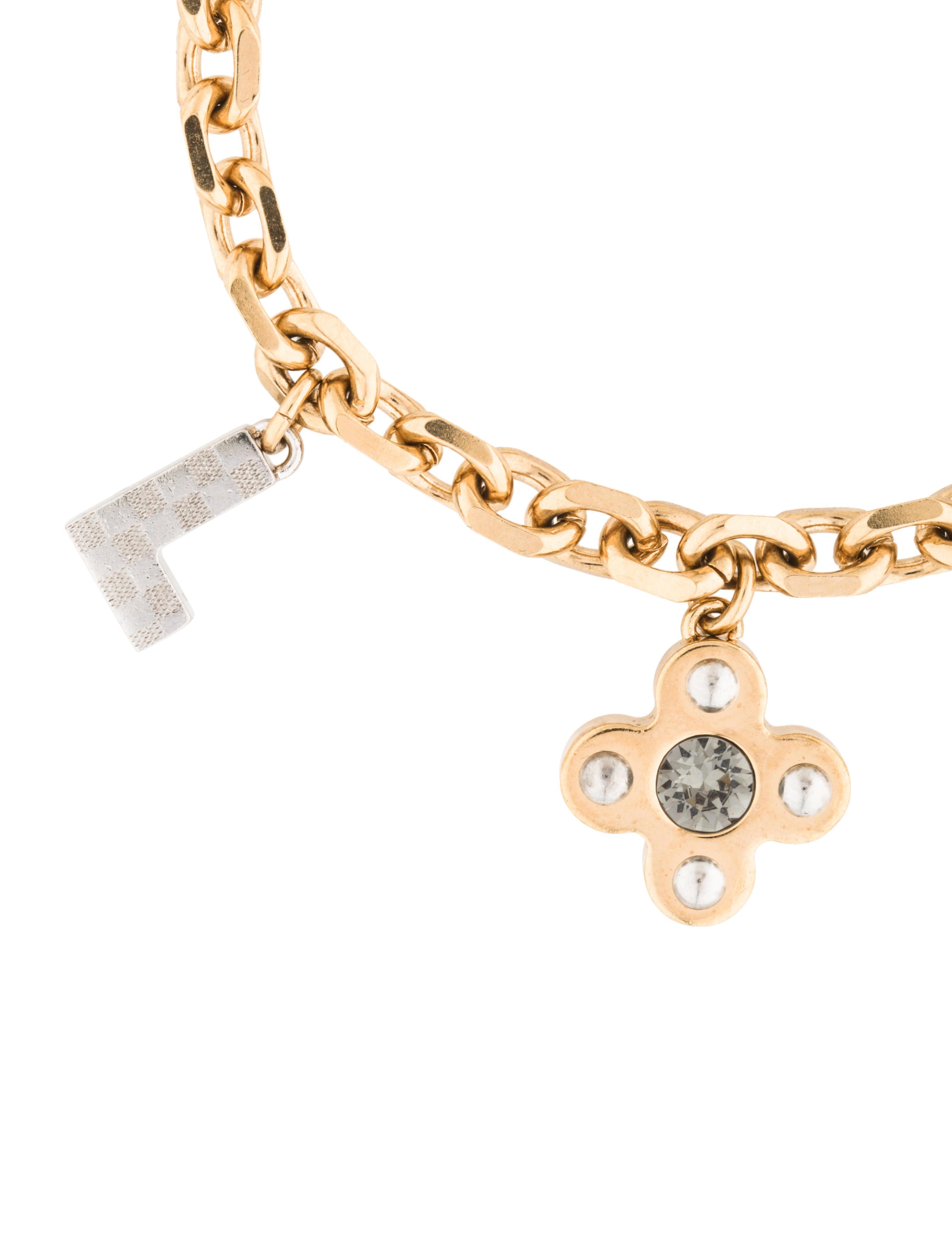 louis vuitton letter timeless charm bracelet