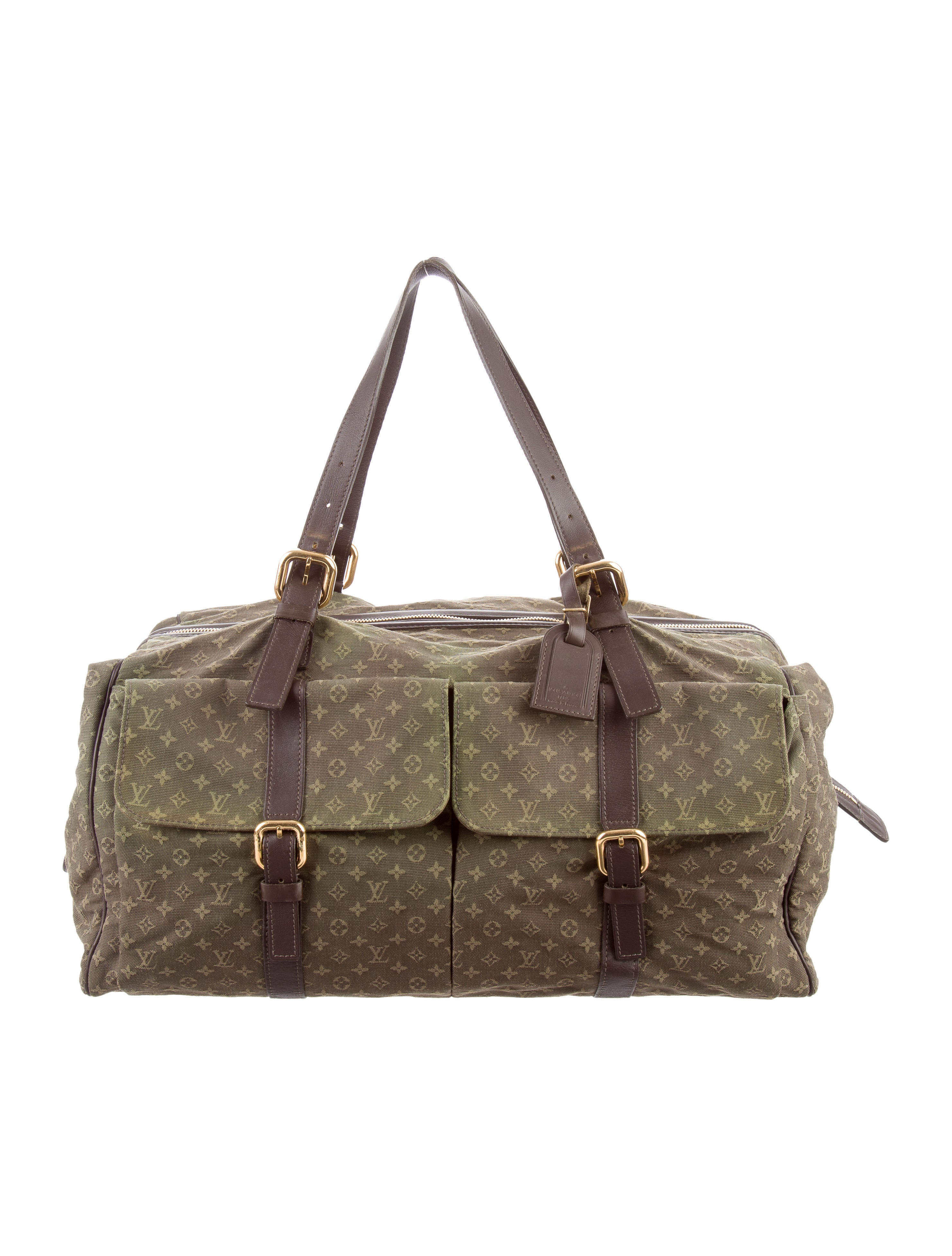 louis vuitton mini lin louise weekender bag handbags lou113589 the realreal. Black Bedroom Furniture Sets. Home Design Ideas