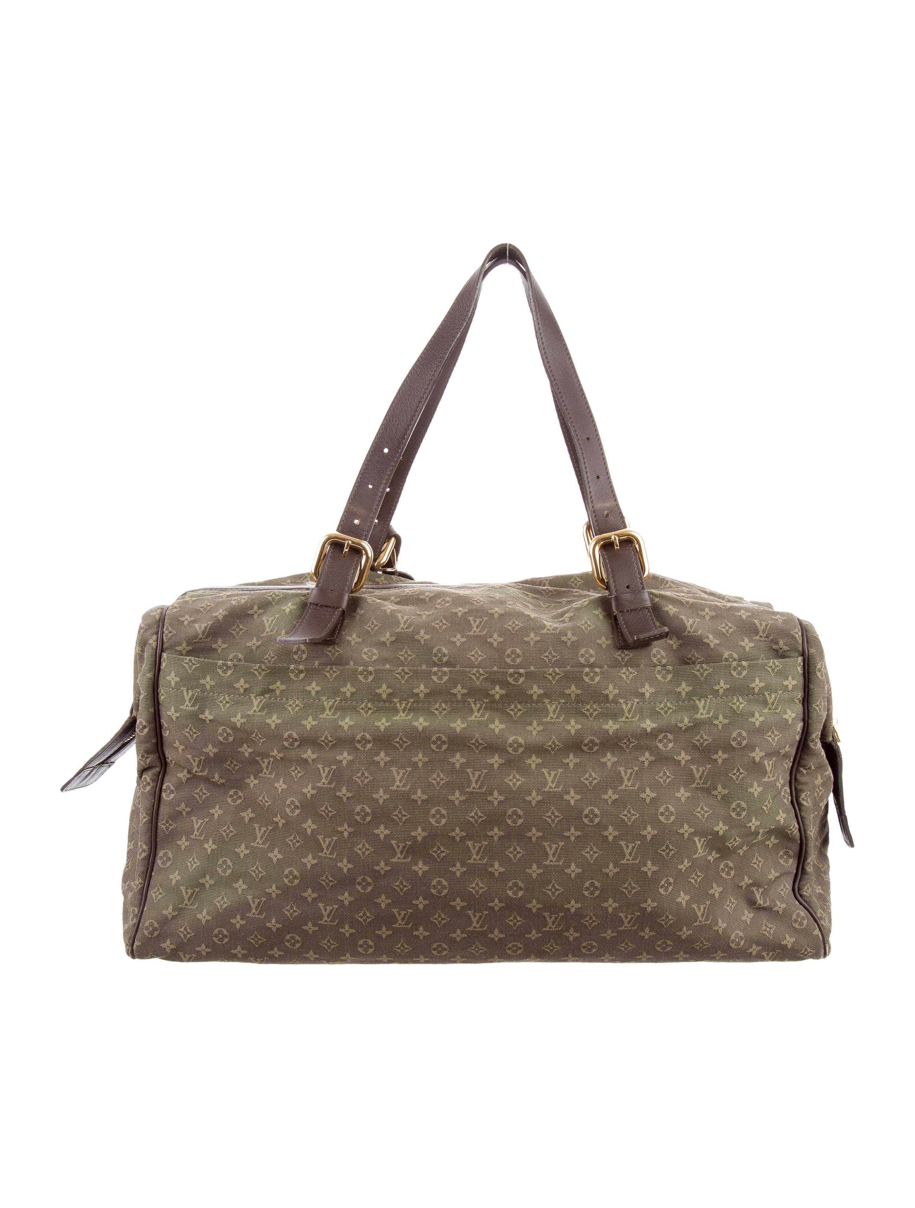 louis vuitton mini lin louise weekender bag handbags lou113589 the realreal. Black Bedroom Furniture Sets. Home Design Ideas