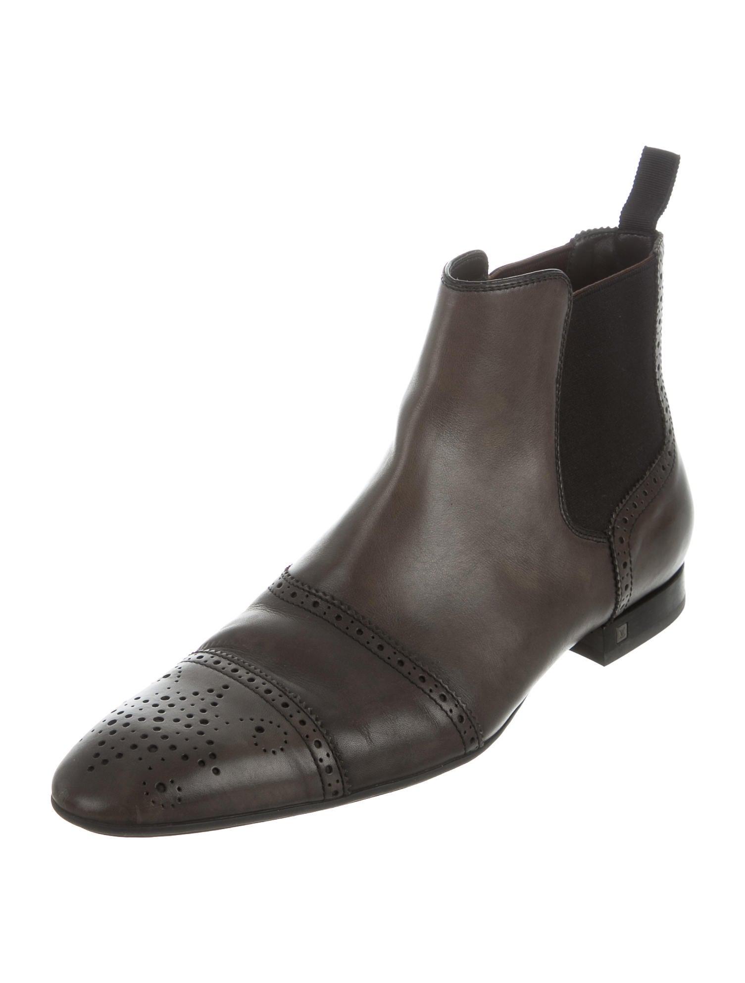 louis vuitton leather chelsea boots shoes lou113593