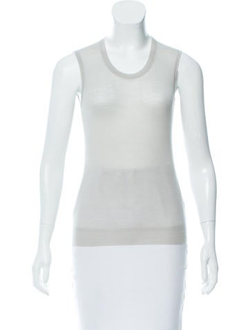 Louis Vuitton Merino Wool Semi-Sheer Top None