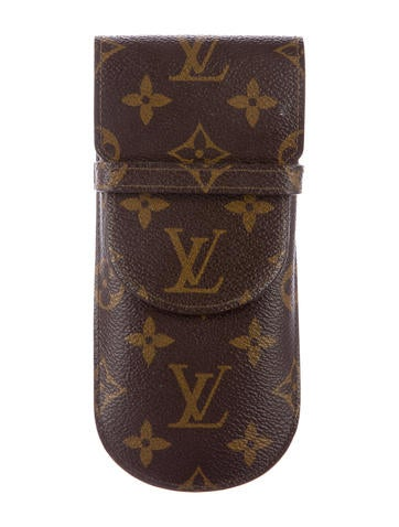 louis vuitton monogram etui lunettes eyeglass case. Black Bedroom Furniture Sets. Home Design Ideas