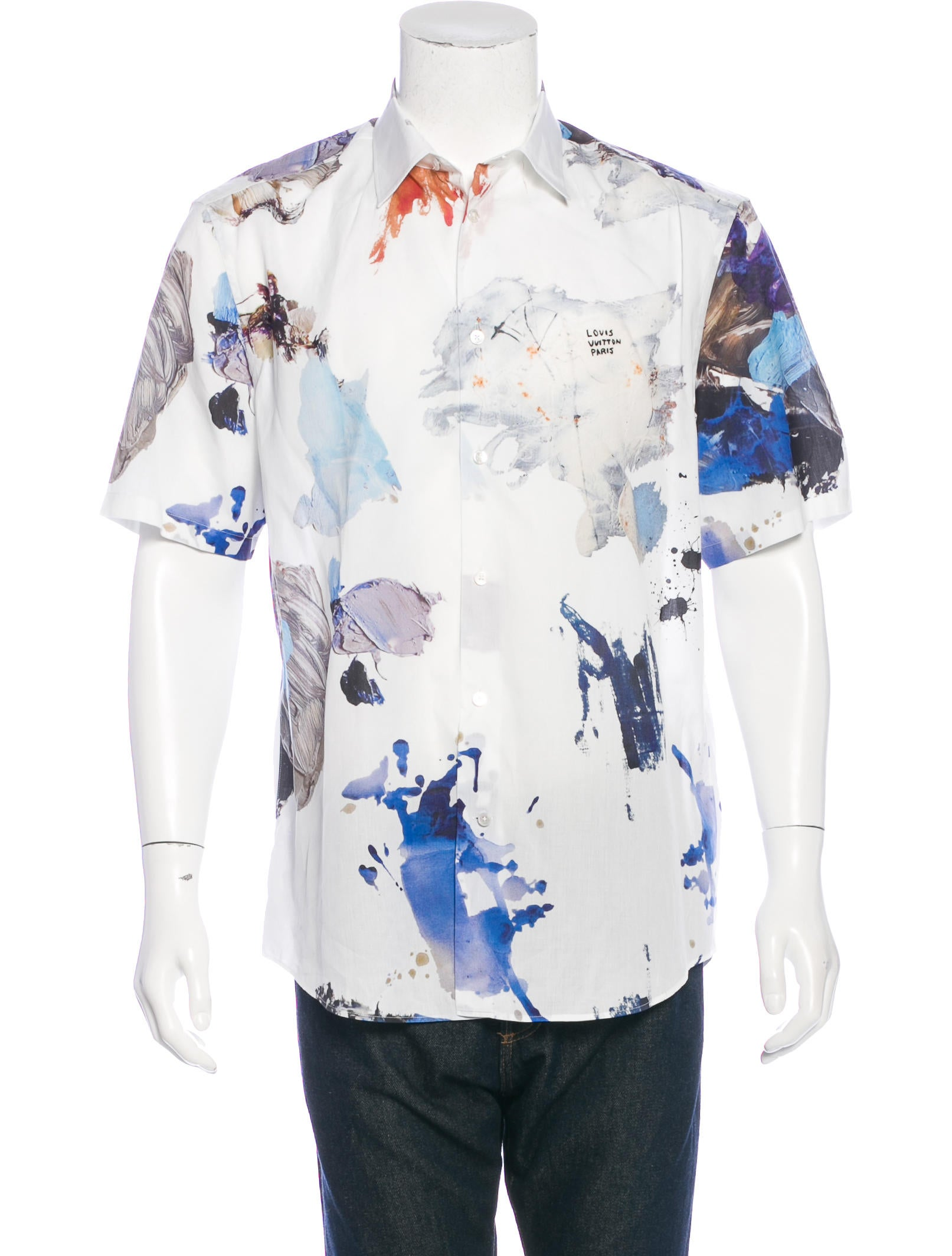 Louis Vuitton Paint Splatter Print Shirt Clothing