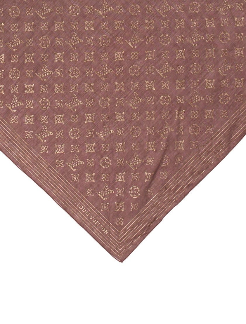 Louis Vuitton Metallic Monogram Bandana Accessories