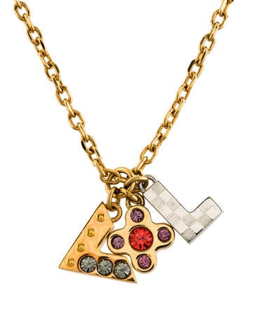Louis vuitton love letters necklace necklaces for Louis vuitton letter necklace