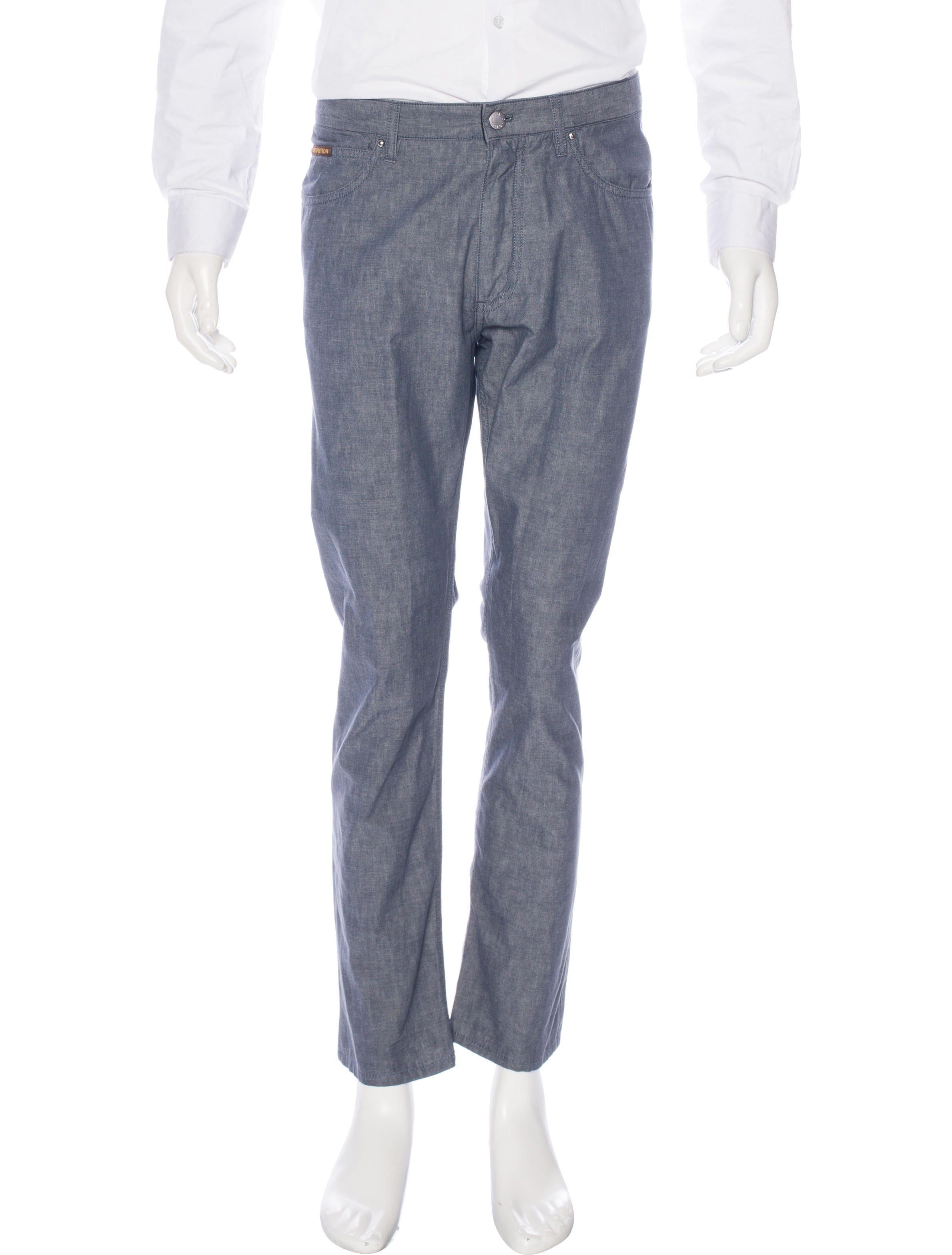 Louis vuitton five pocket chambray pants clothing for Chambray jeans