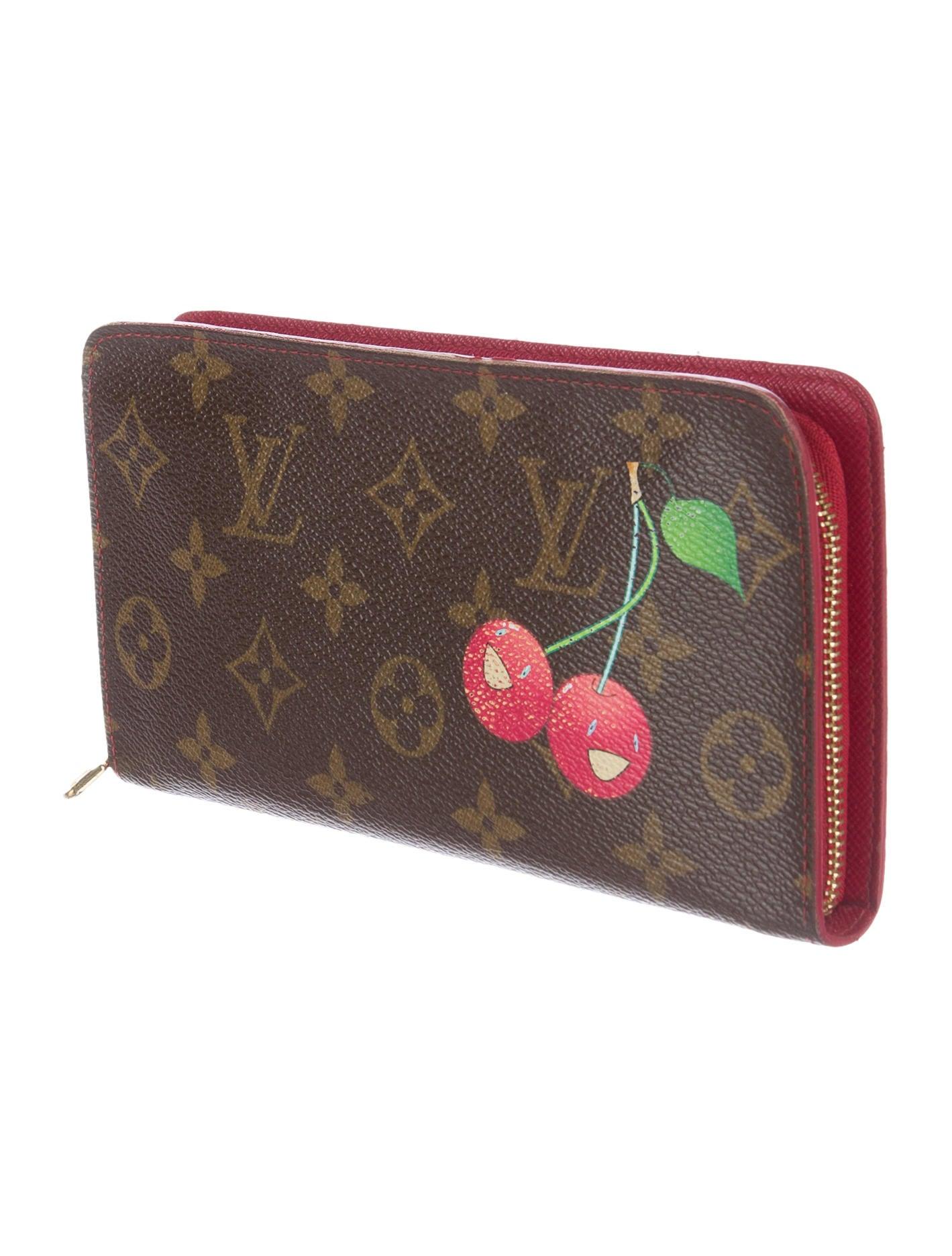 Louis vuitton monogram cerises porte monnaie zippy wallet for Porte monnaie wallet