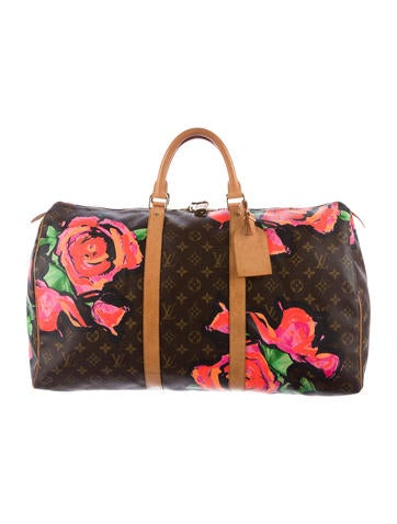 Louis Vuitton Roses Keepall 50