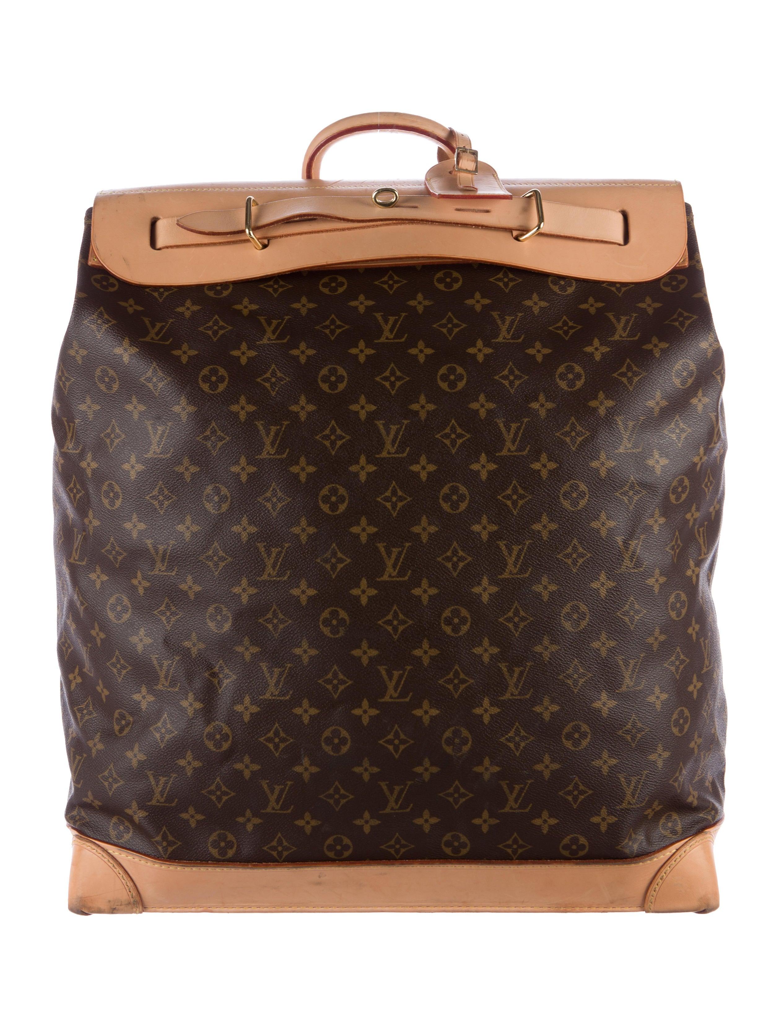 louis vuitton monogram steamer bag 45 handbags lou115828 the realreal. Black Bedroom Furniture Sets. Home Design Ideas