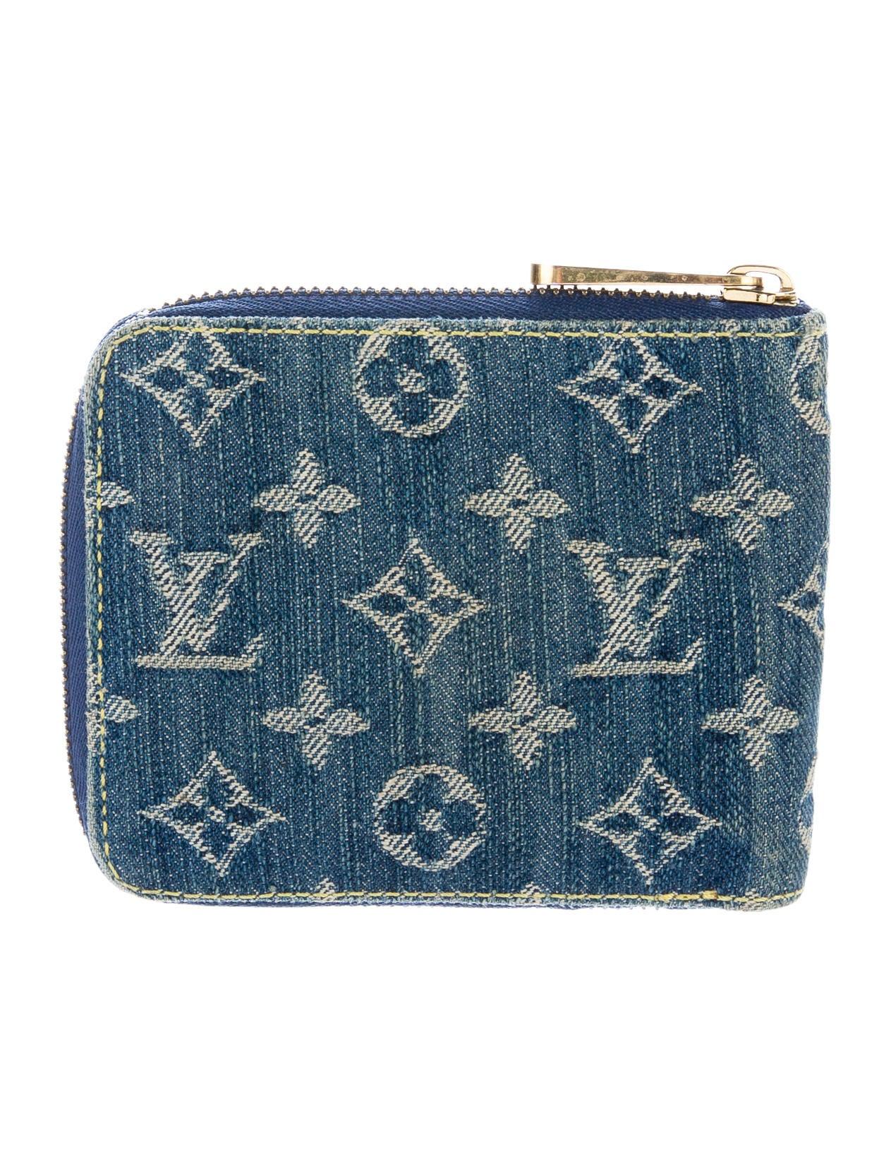 Louis Vuitton Denim Compact Zip Wallet Accessories