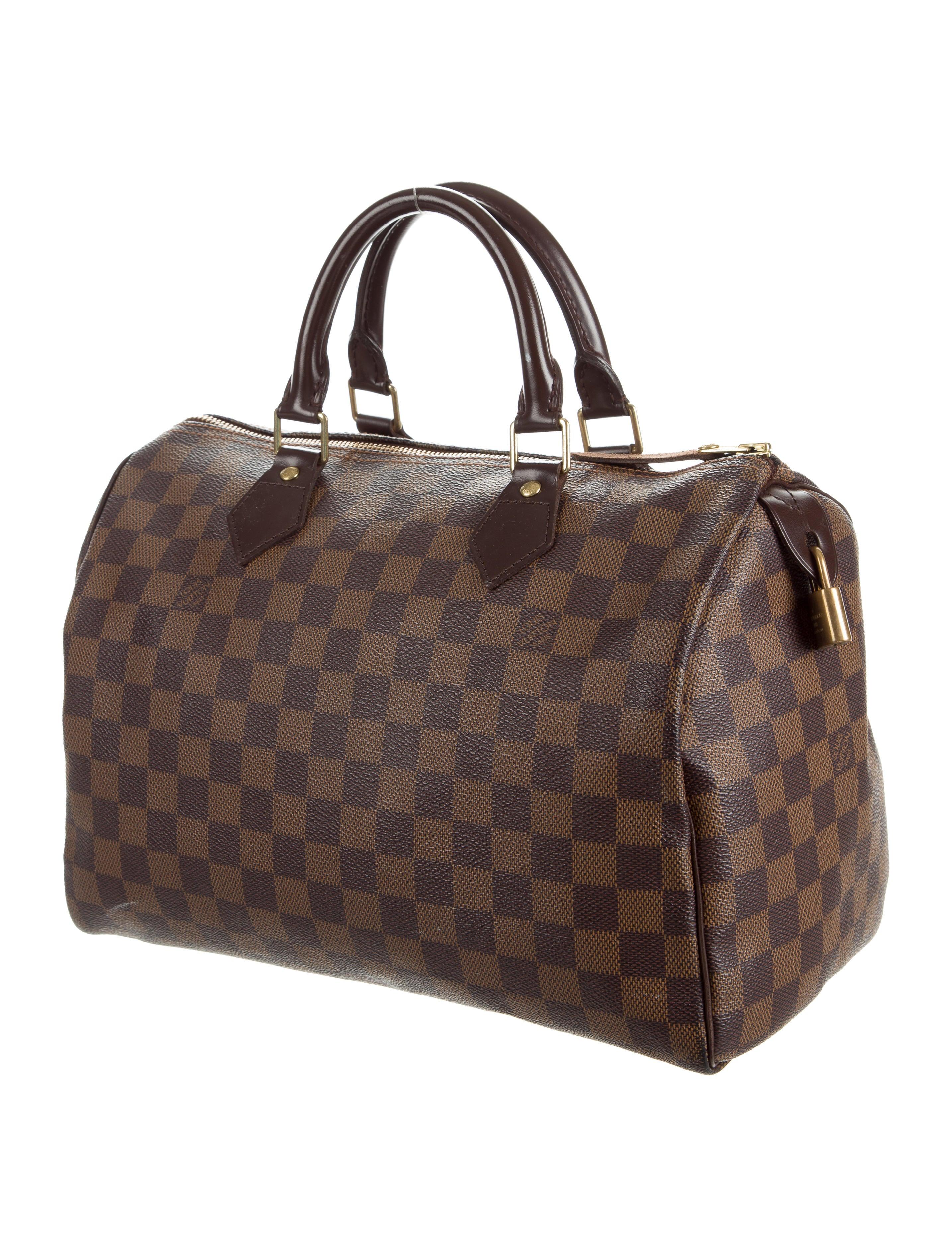 louis vuitton damier ebene speedy 30 handbags lou116121 the realreal. Black Bedroom Furniture Sets. Home Design Ideas