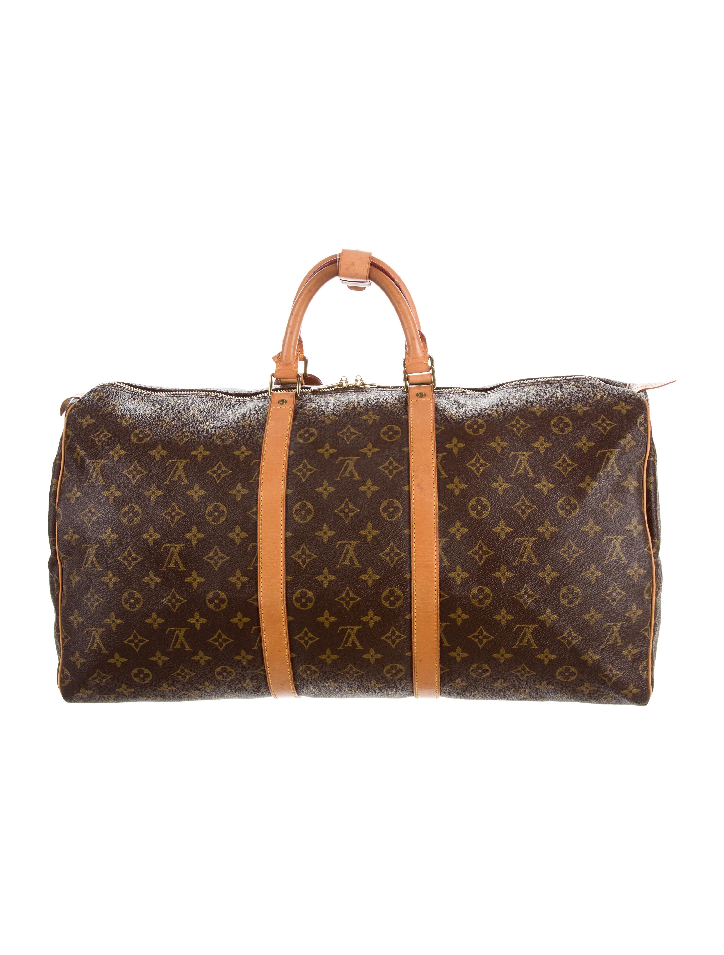 louis vuitton monogram keepall 55 bags lou116276 the realreal. Black Bedroom Furniture Sets. Home Design Ideas