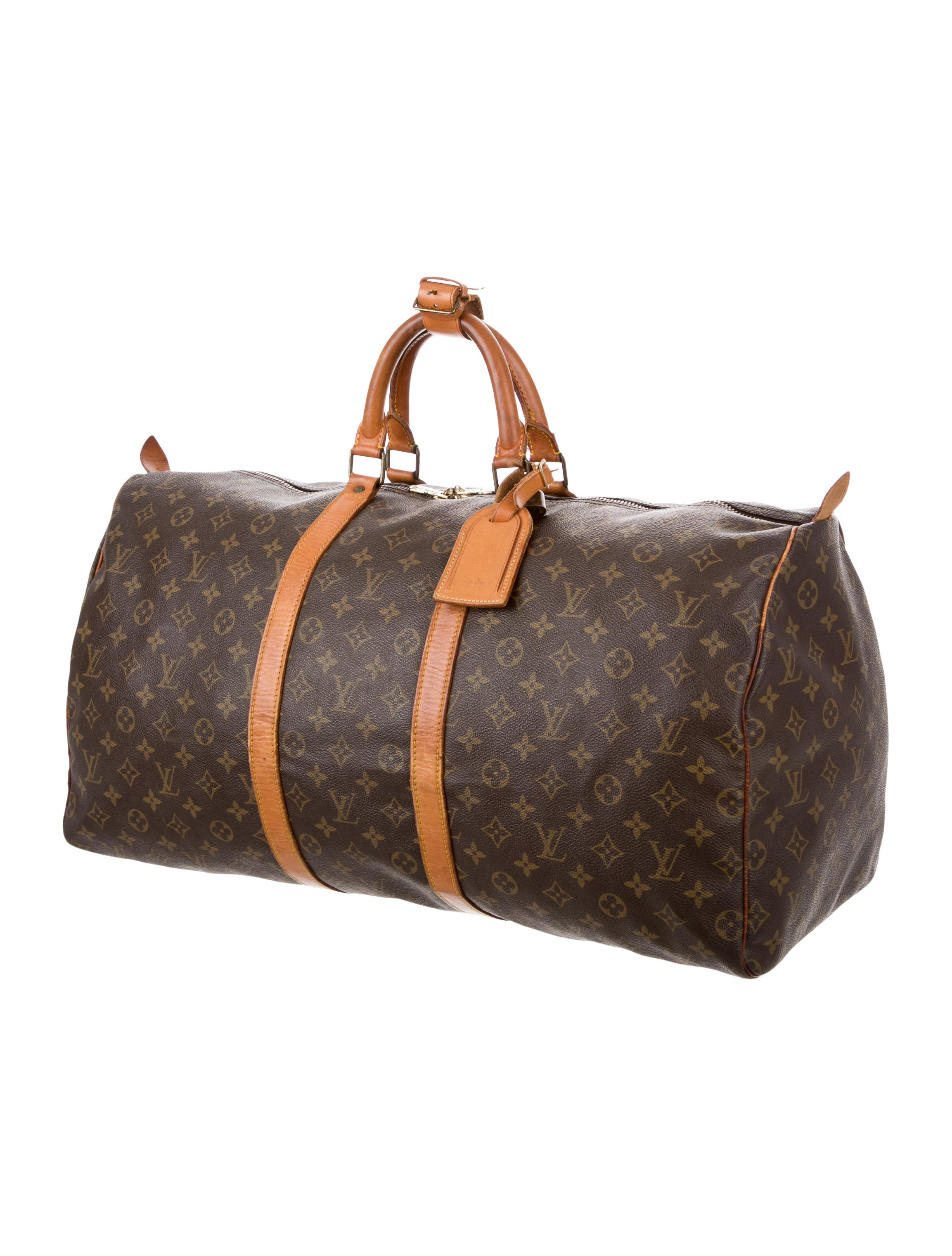 louis vuitton monogram keepall 55 bags lou116323 the realreal. Black Bedroom Furniture Sets. Home Design Ideas