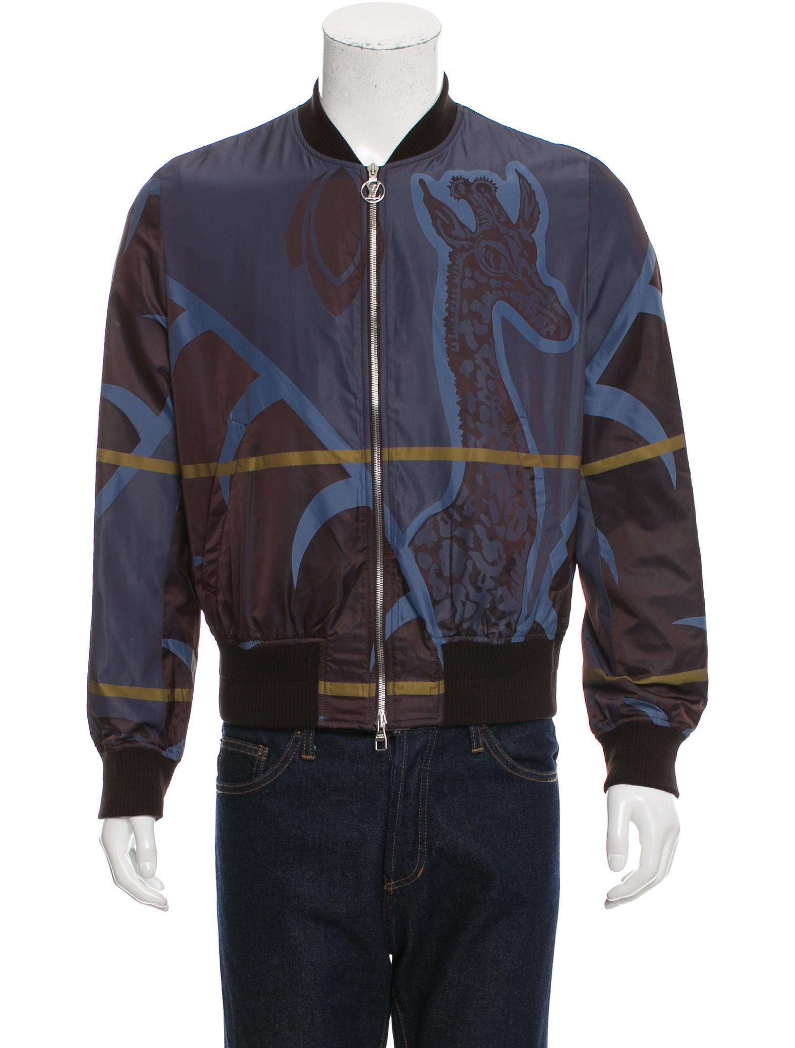 louis vuitton giraffe print bomber jacket clothing. Black Bedroom Furniture Sets. Home Design Ideas