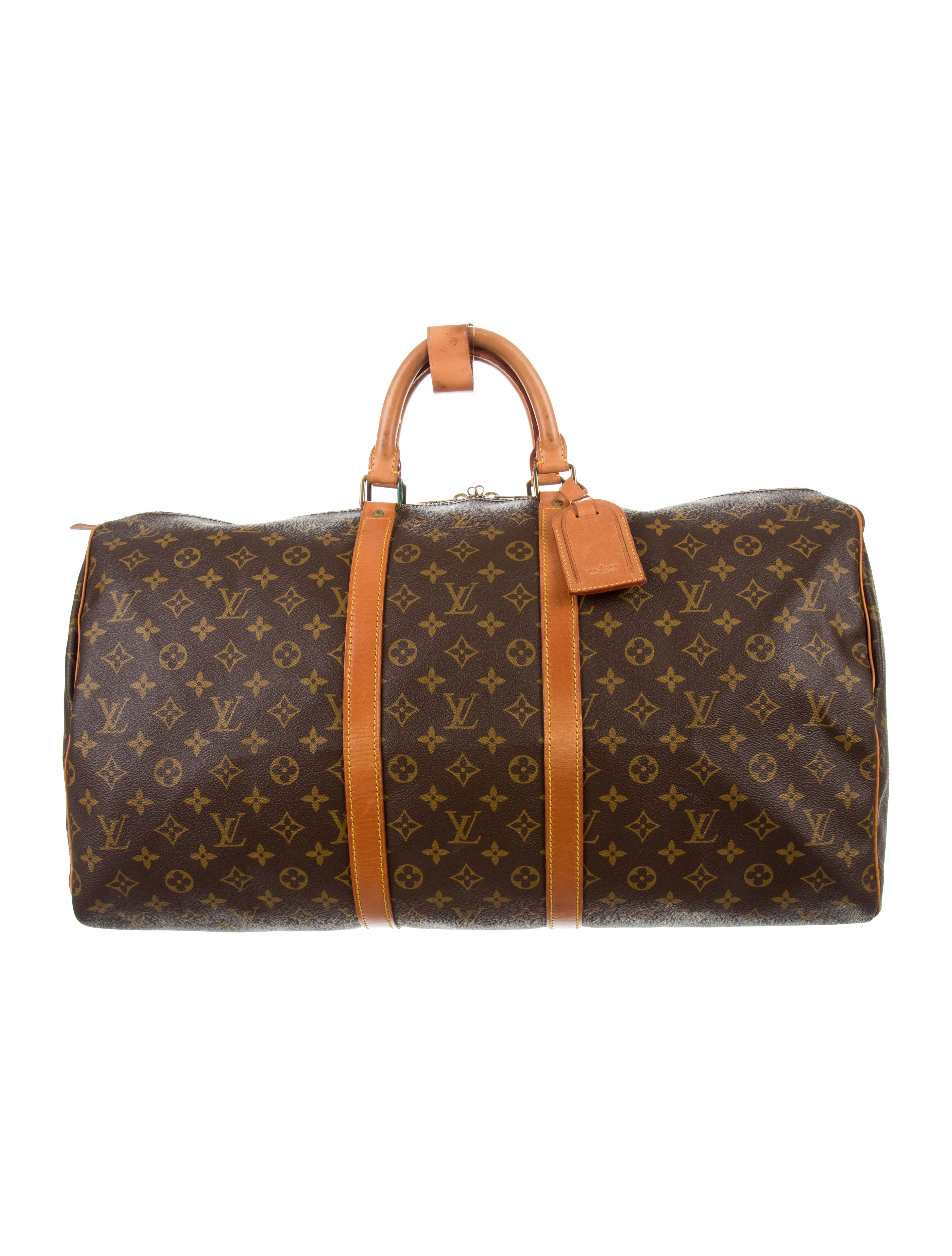 louis vuitton monogram keepall 55 luggage lou116634. Black Bedroom Furniture Sets. Home Design Ideas