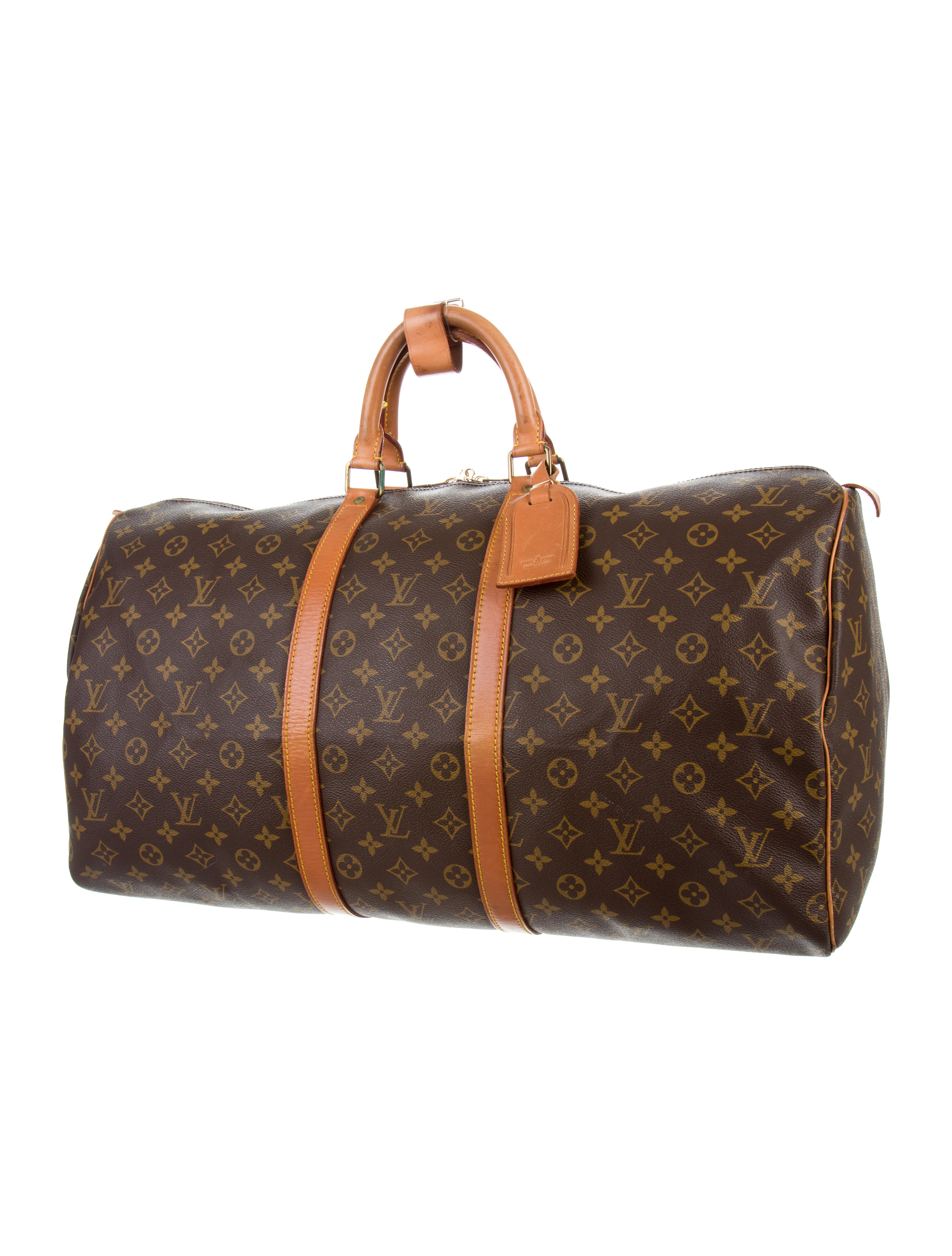louis vuitton monogram keepall 55 luggage lou116634 the realreal. Black Bedroom Furniture Sets. Home Design Ideas