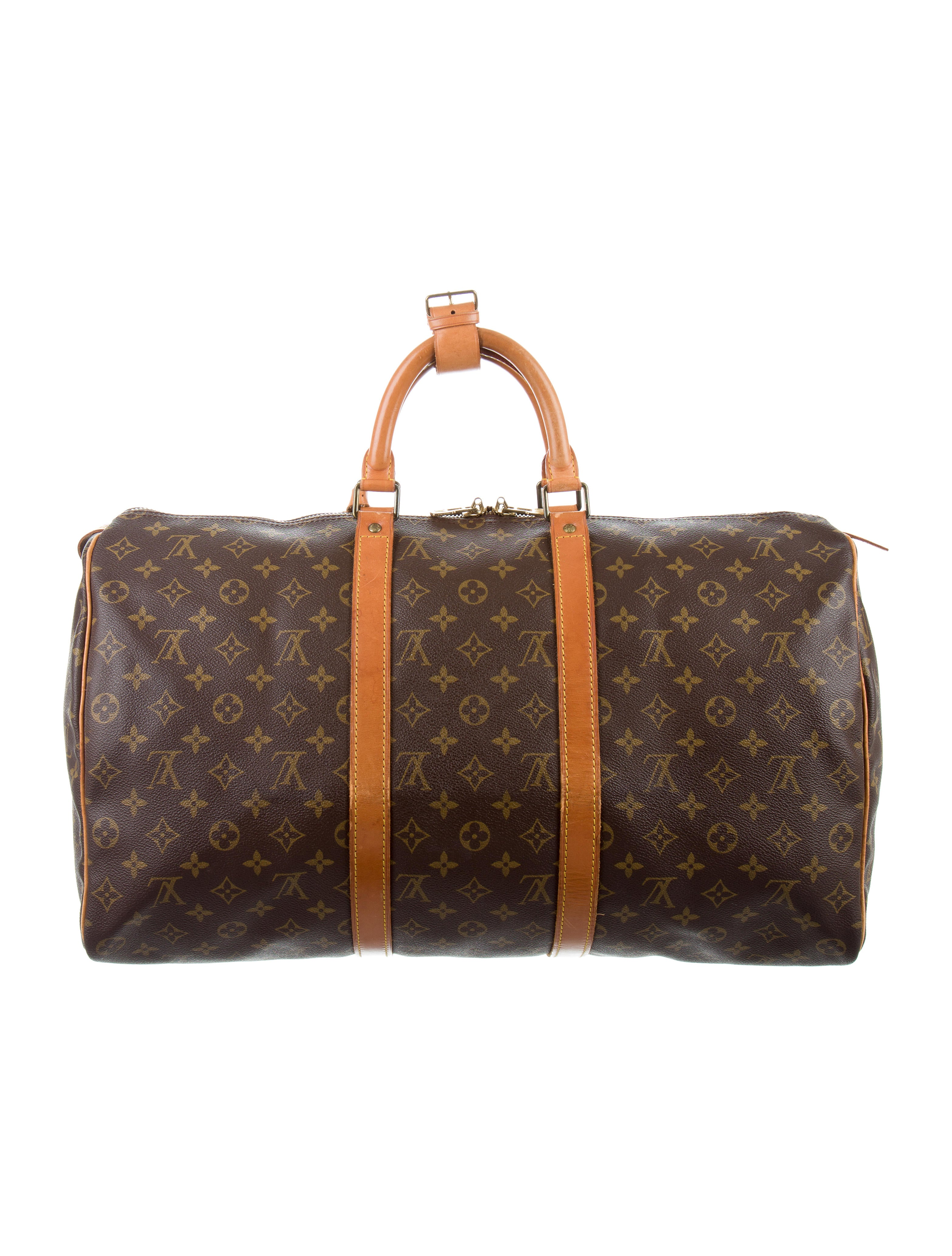 louis vuitton monogram keepall 50 bags lou116656 the realreal. Black Bedroom Furniture Sets. Home Design Ideas