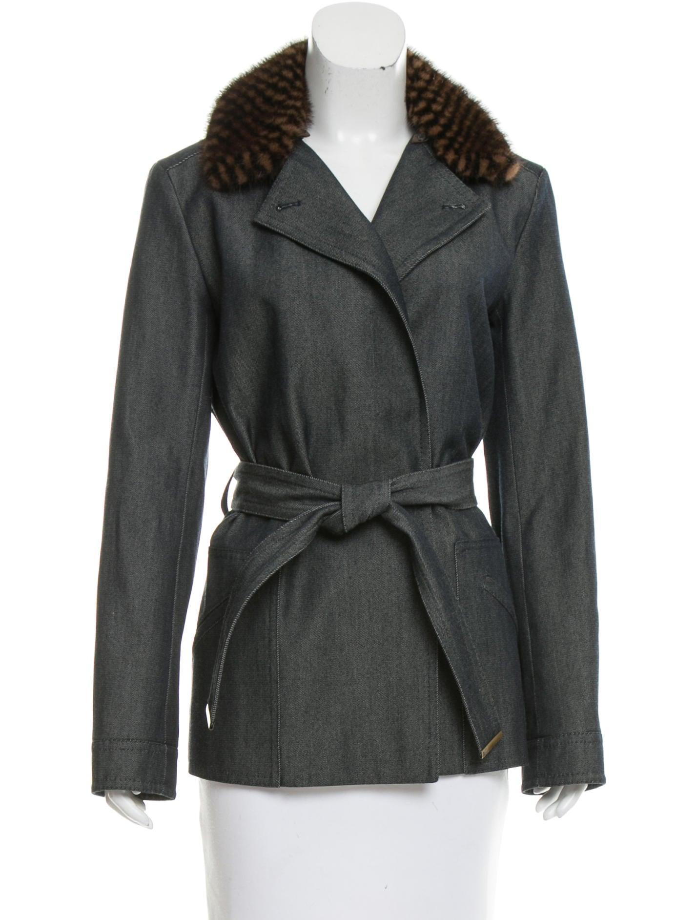 louis vuitton mink trimmed twill jacket clothing. Black Bedroom Furniture Sets. Home Design Ideas