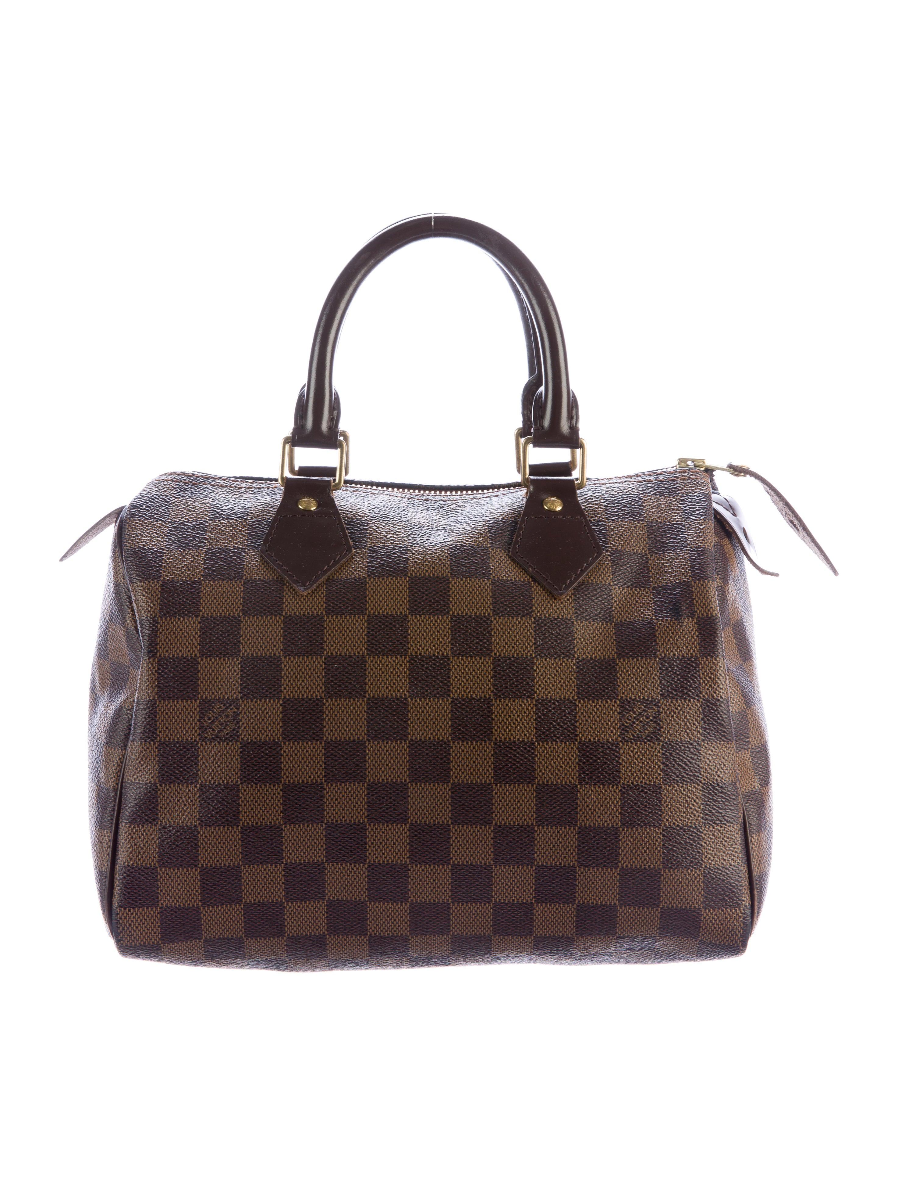 louis vuitton damier ebene speedy 25 handbags. Black Bedroom Furniture Sets. Home Design Ideas