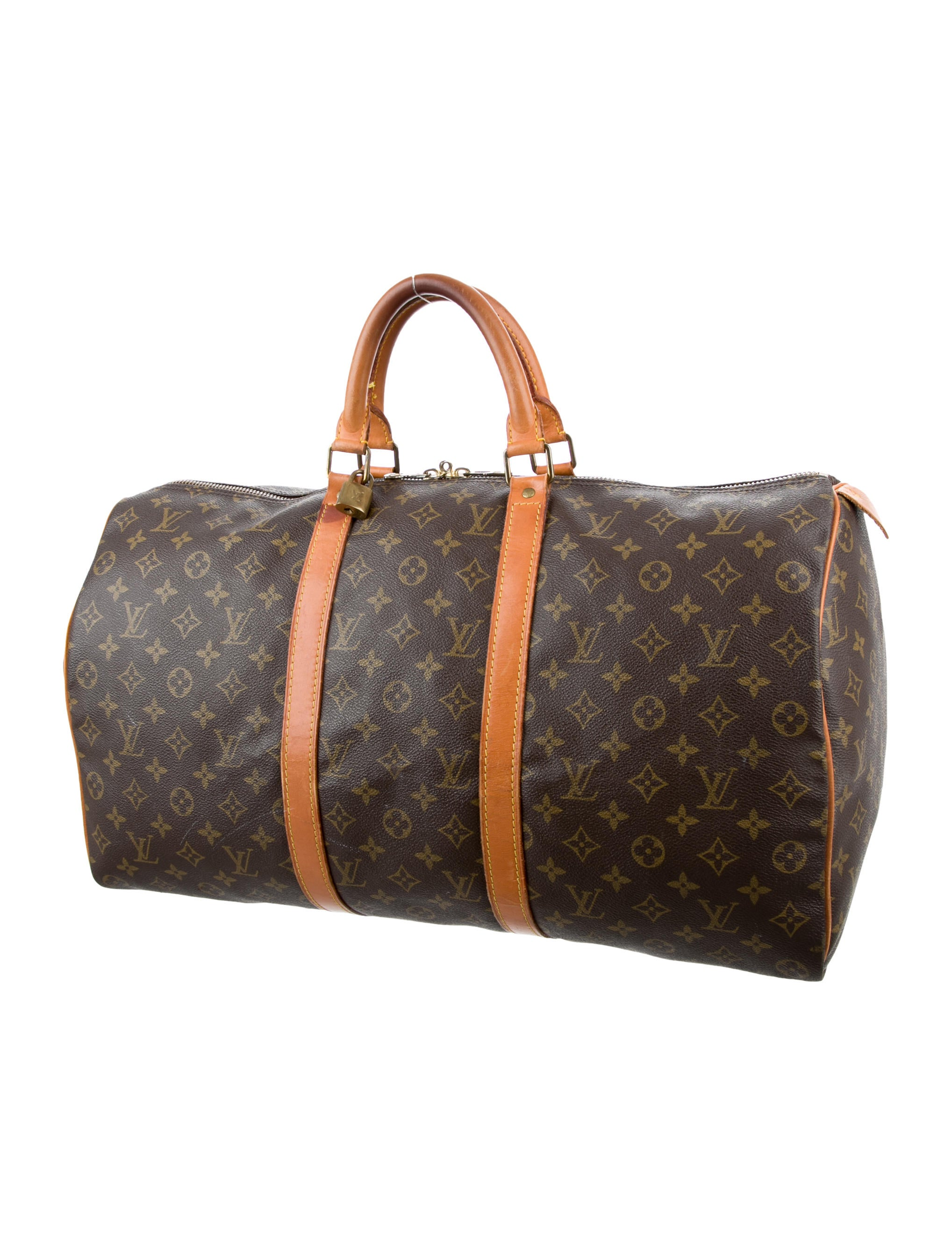 louis vuitton monogram keepall 50 handbags lou117200 the realreal. Black Bedroom Furniture Sets. Home Design Ideas