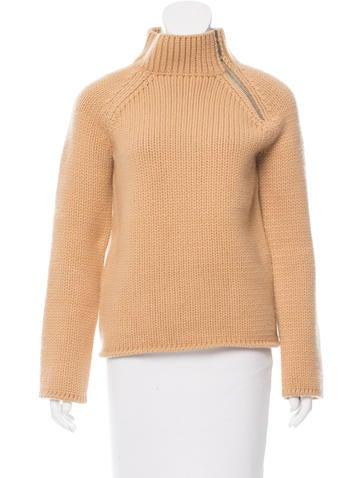 Louis Vuitton Rib Knit Mock Neck Sweater None