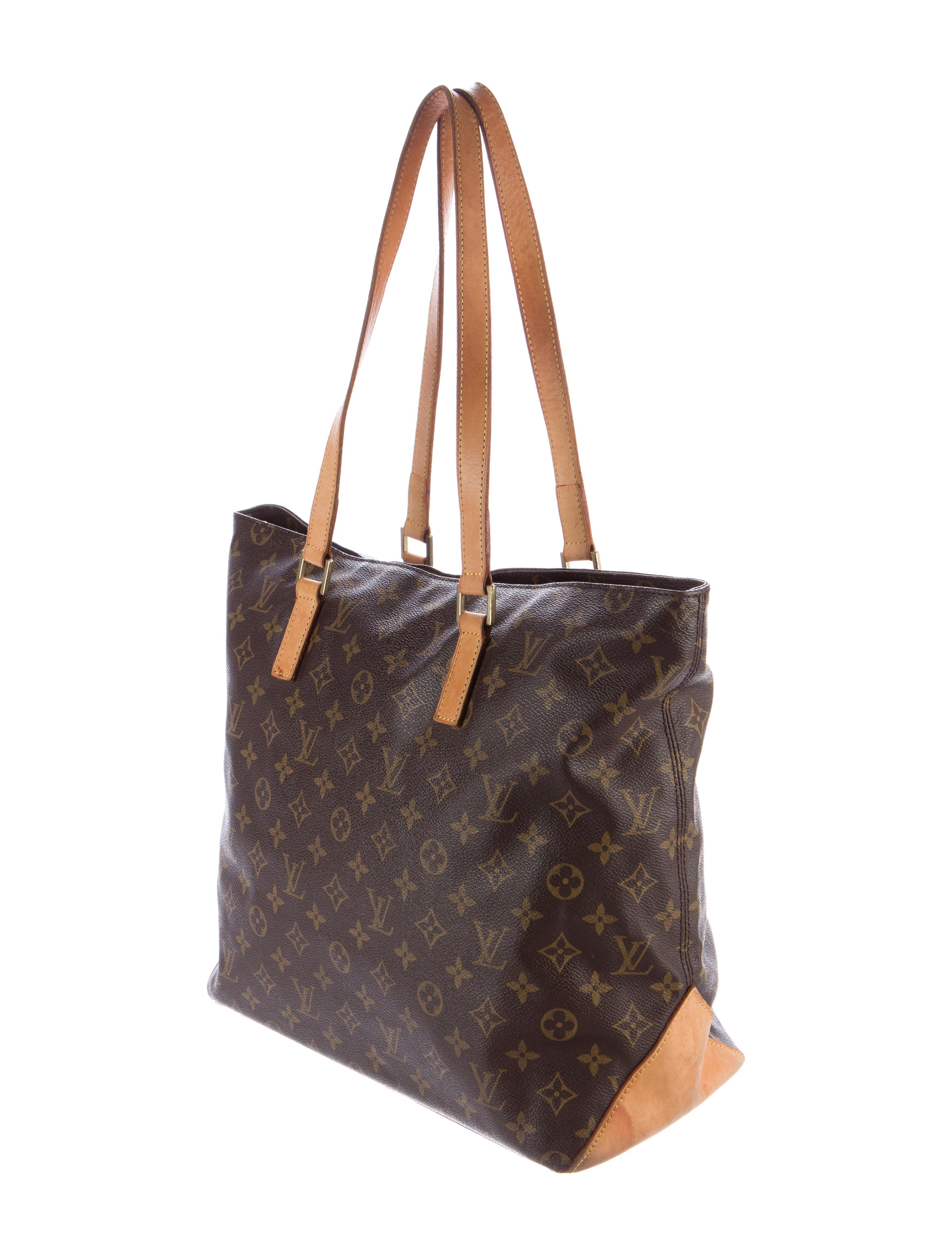 Louis Vuitton Monogram Cabas Mezzo Large Shopper Tote Bags