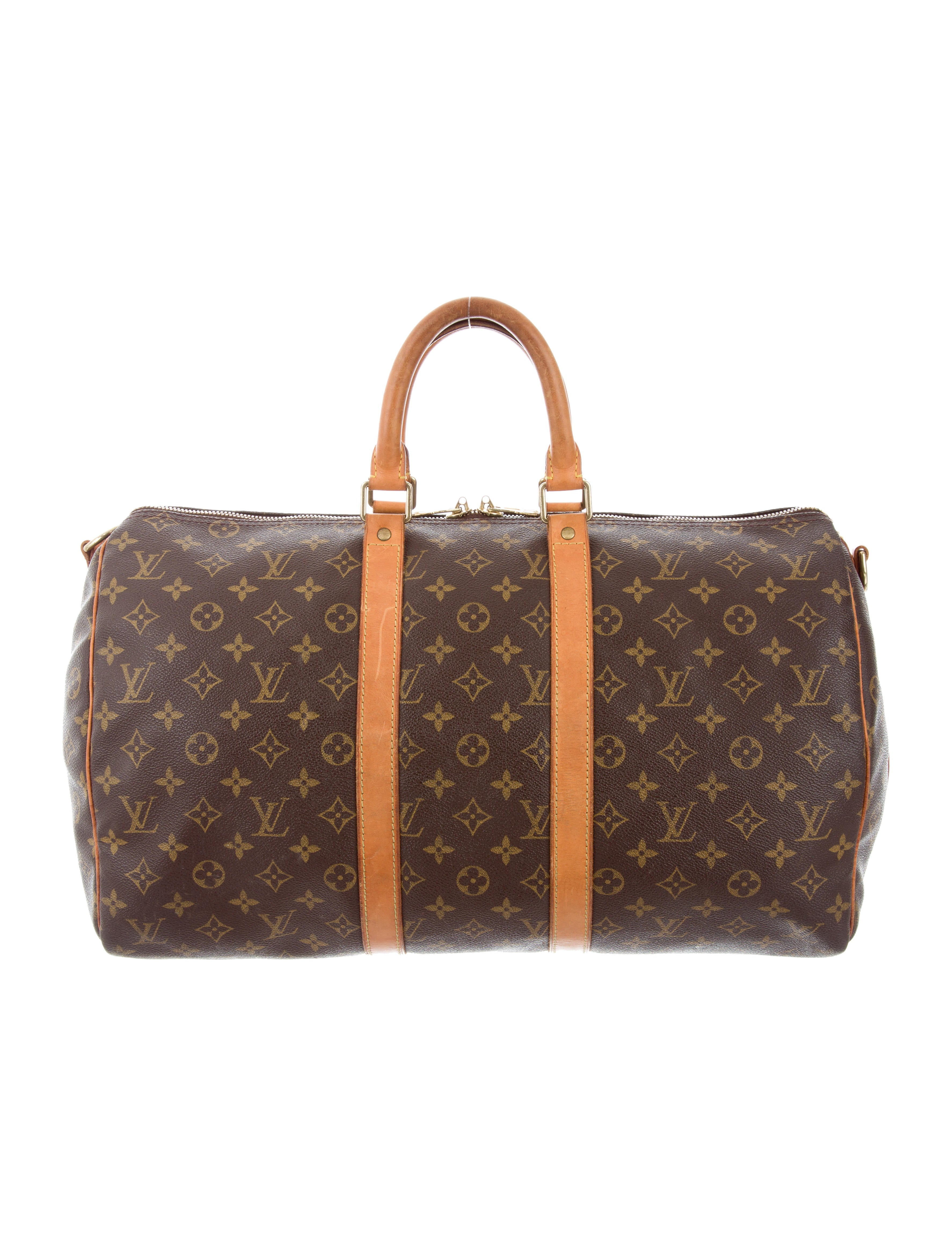 louis vuitton monogram keepall bandouliere 45 handbags lou118134 the realreal. Black Bedroom Furniture Sets. Home Design Ideas